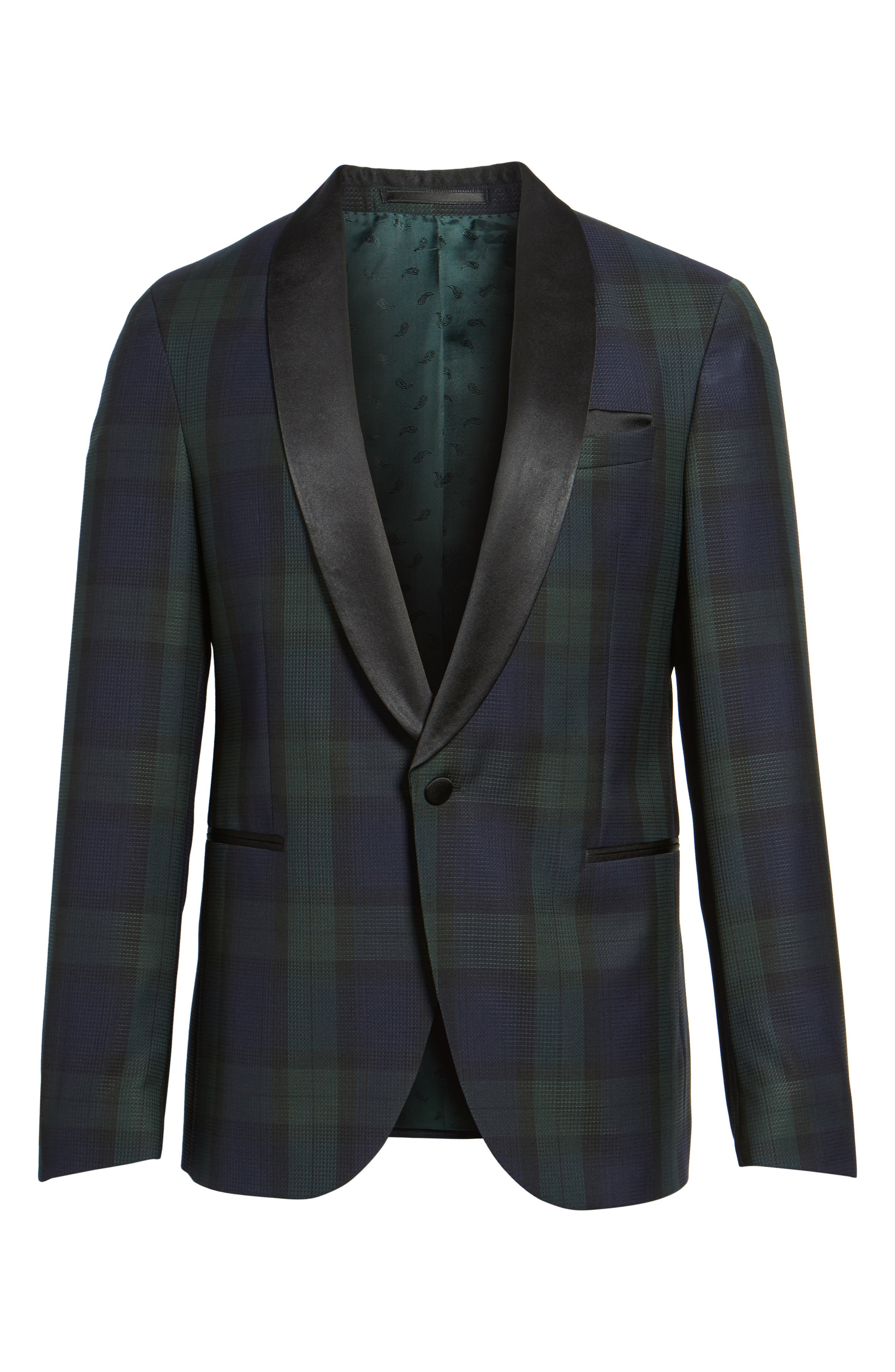 Nemir Classic Fit Wool Dinner Jacket,                             Alternate thumbnail 6, color,                             Green