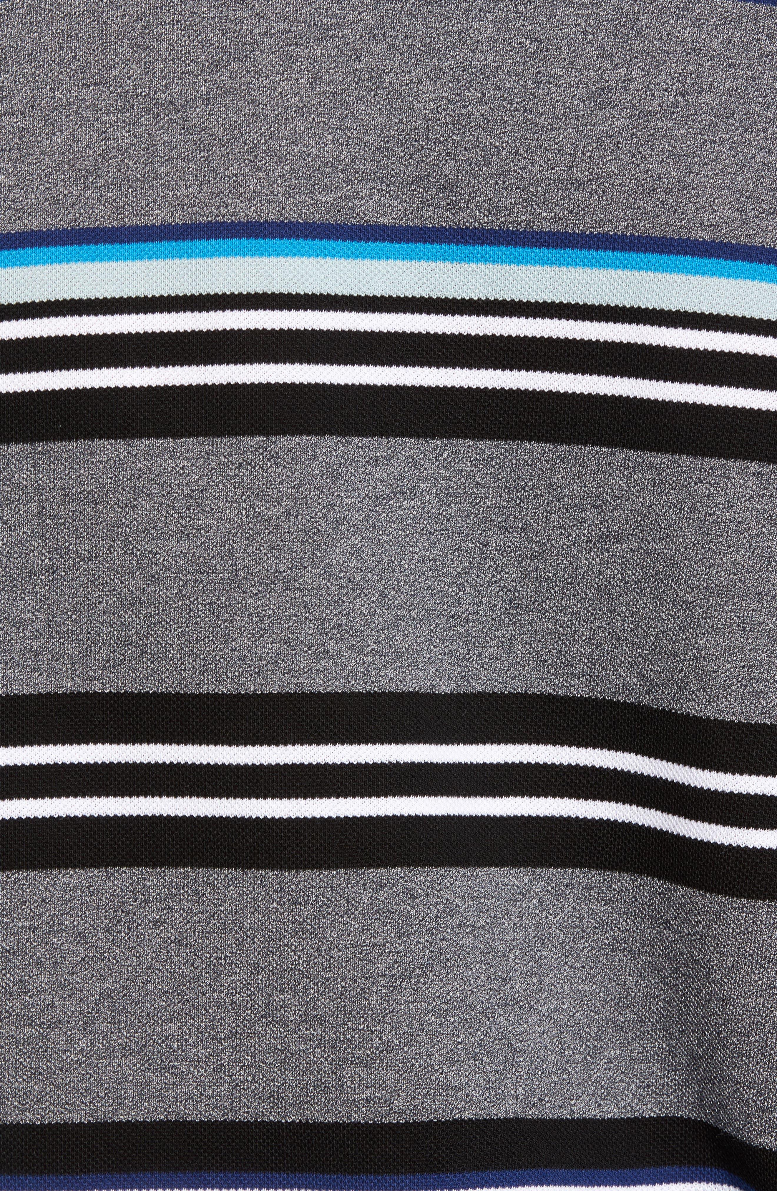 Mouline Stripe Piqué Polo,                             Alternate thumbnail 5, color,                             Qzy Mouline Navy Blue/ Multico