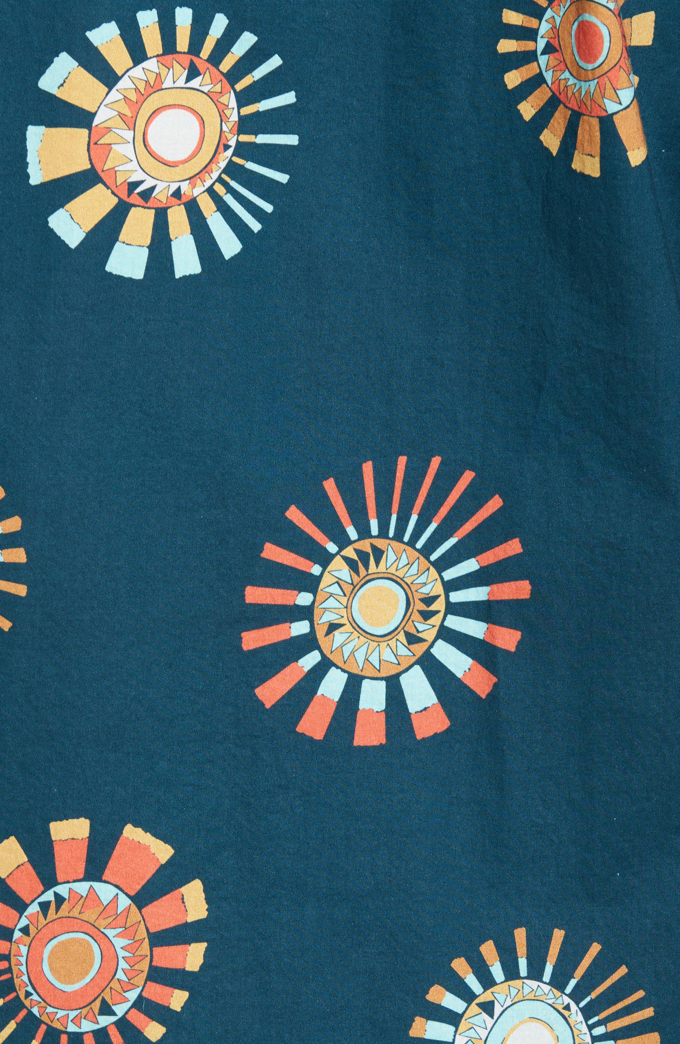 Sunday Floral Woven Shirt,                             Alternate thumbnail 5, color,                             Navy