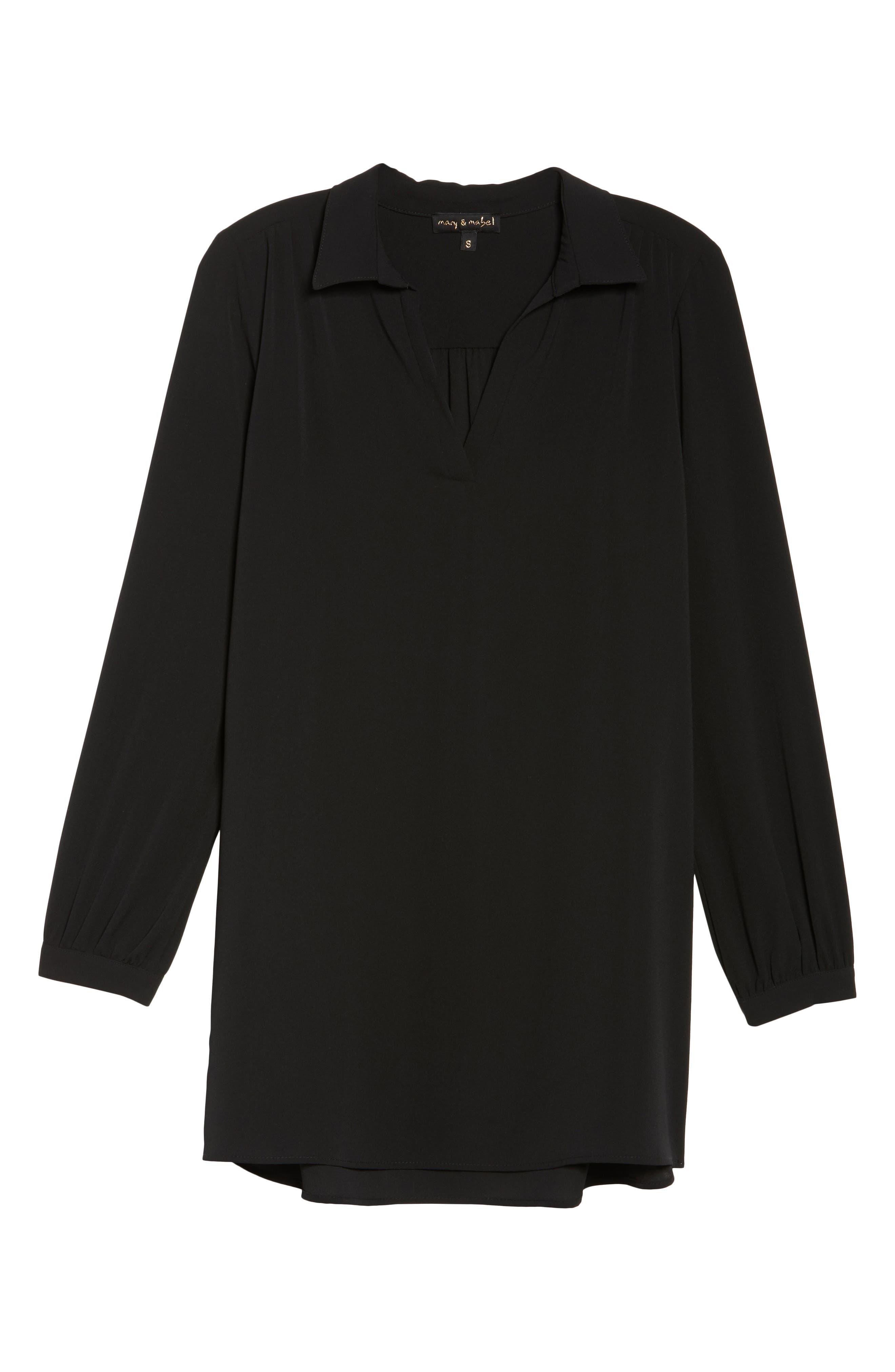 Shirtdress,                             Alternate thumbnail 6, color,                             Black