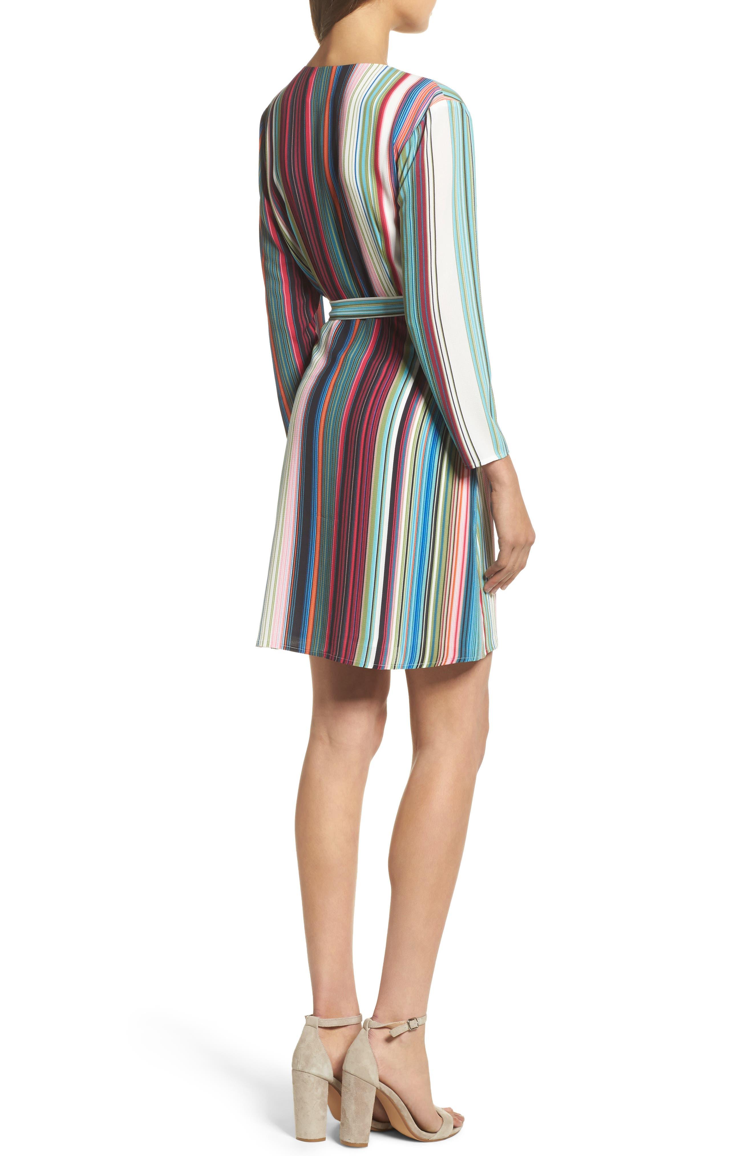 Alternate Image 2  - Charles Henry Wrap Minidress (Regular & Petite)