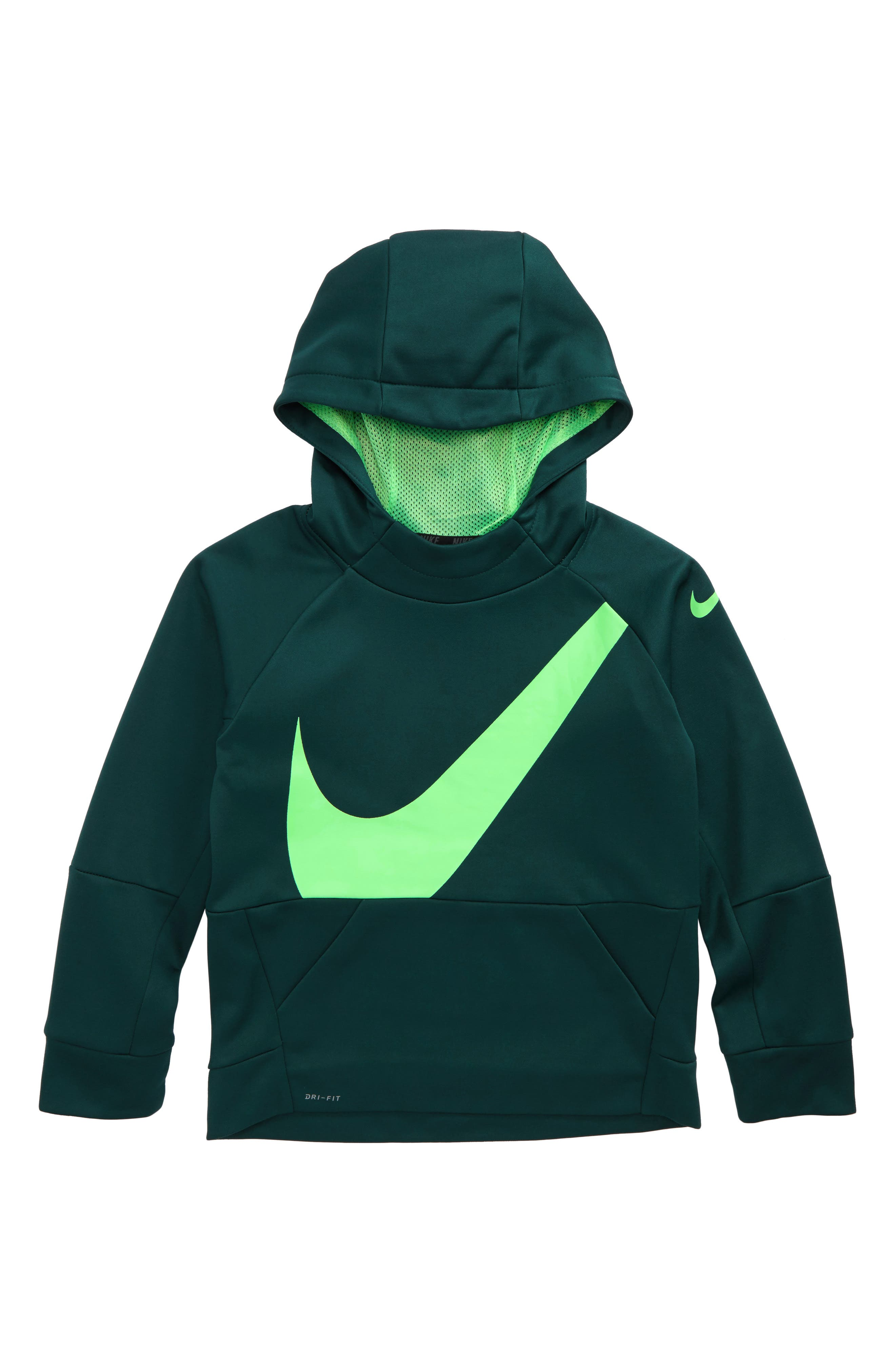 Alternate Image 1 Selected - Nike Therma Dry Swoosh Hoodie (Toddler Boys & Little Boys)