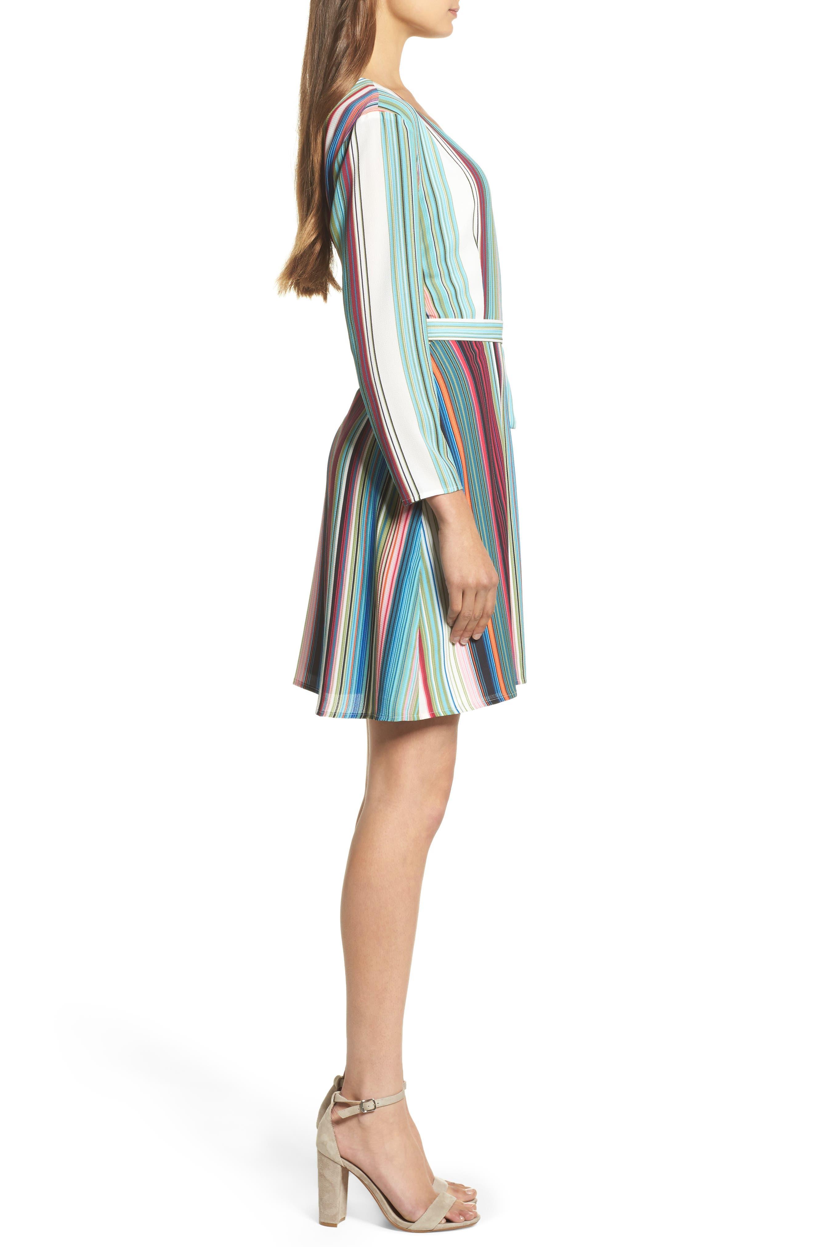 Alternate Image 3  - Charles Henry Wrap Minidress (Regular & Petite)