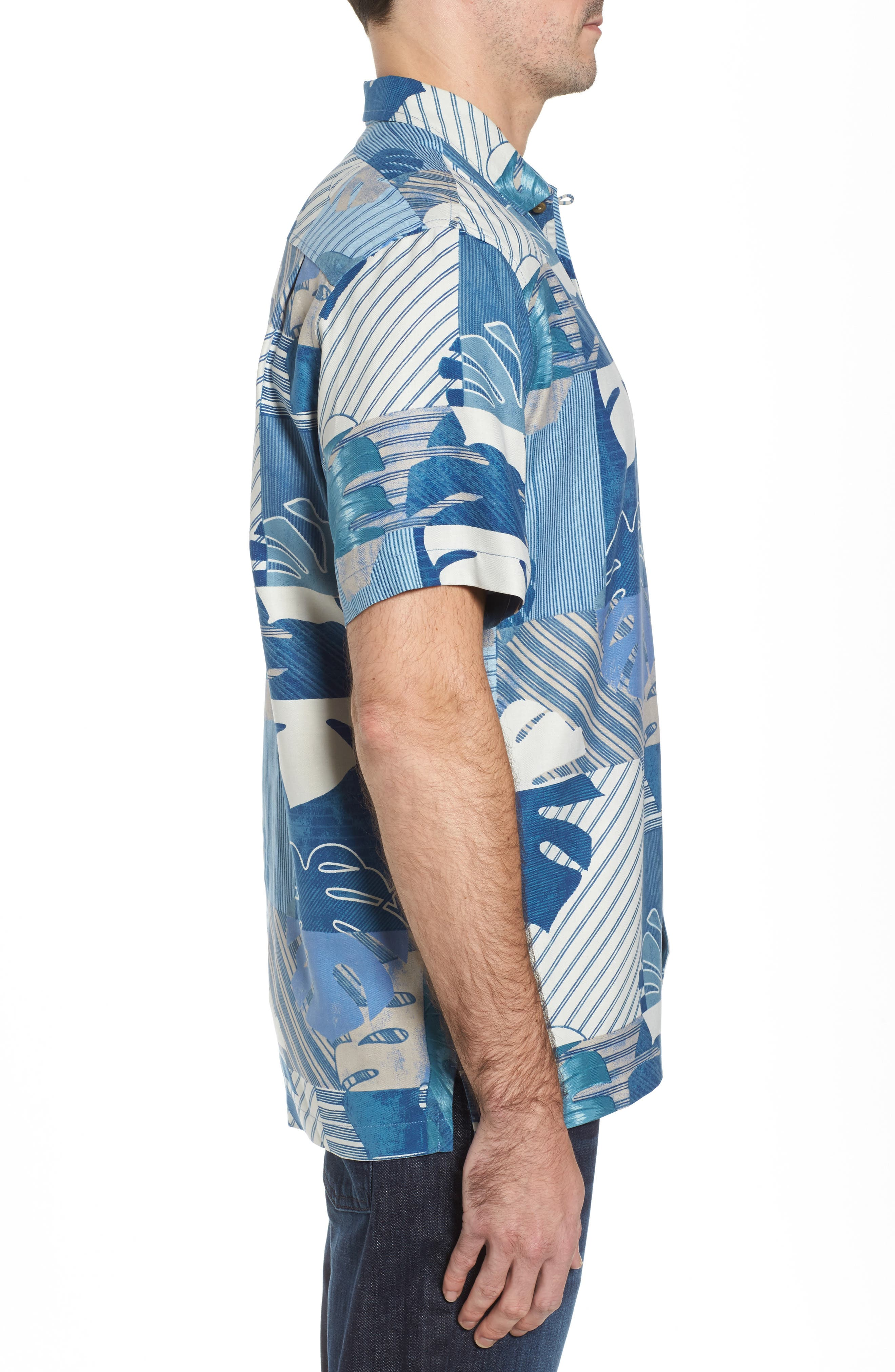 Alternate Image 3  - Tommy Bahama Totally Tiled Silk Camp Shirt