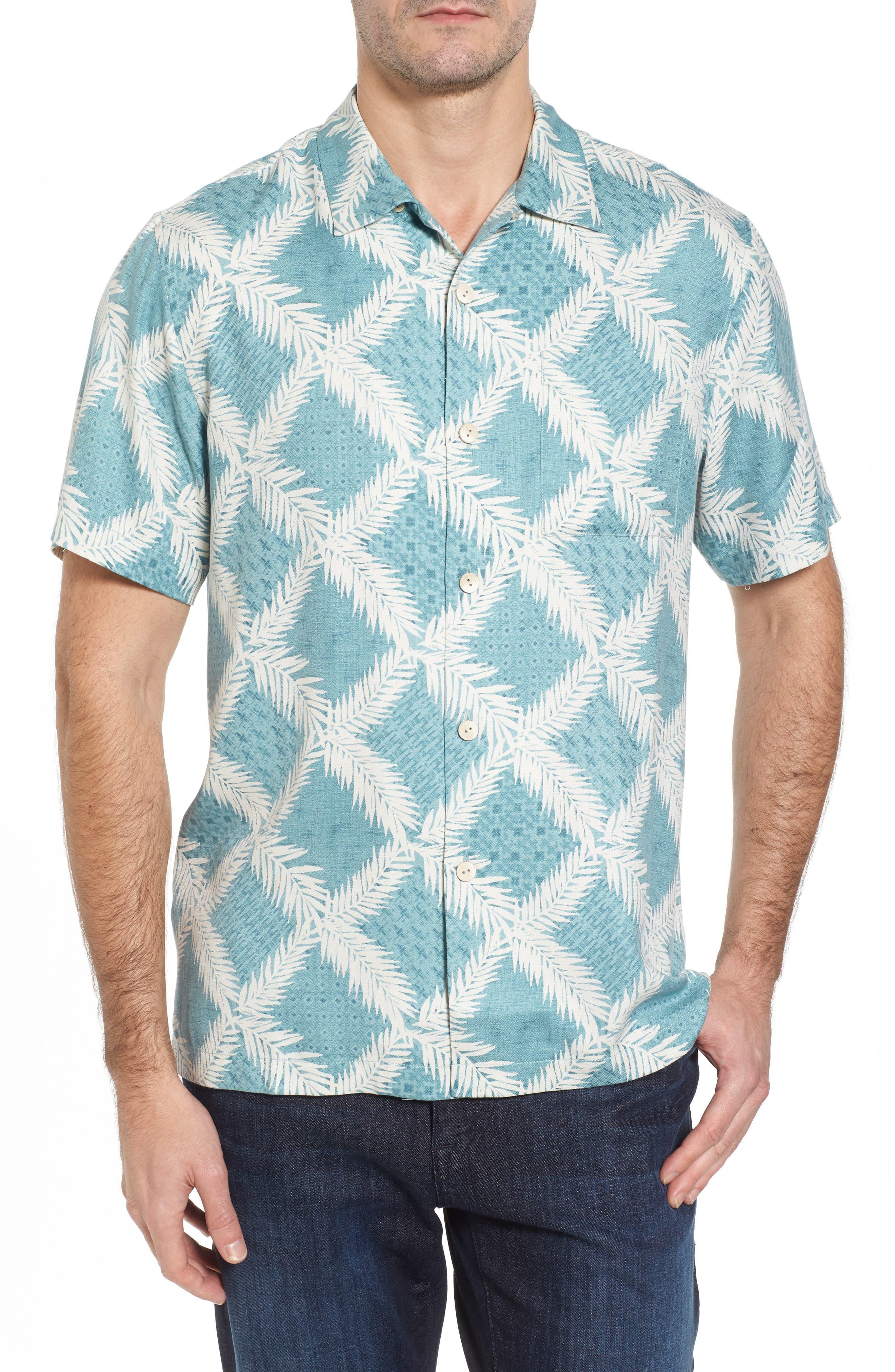 Tommy Bahama Diamond Getaway Silk Blend Camp Shirt