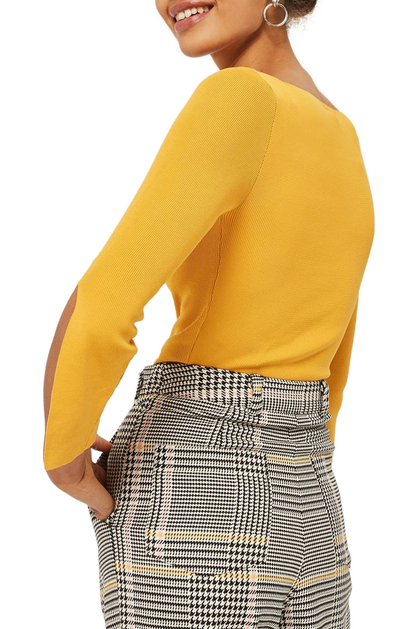 Alternate Image 2  - Topshop Split Sleeve Crop Sweater