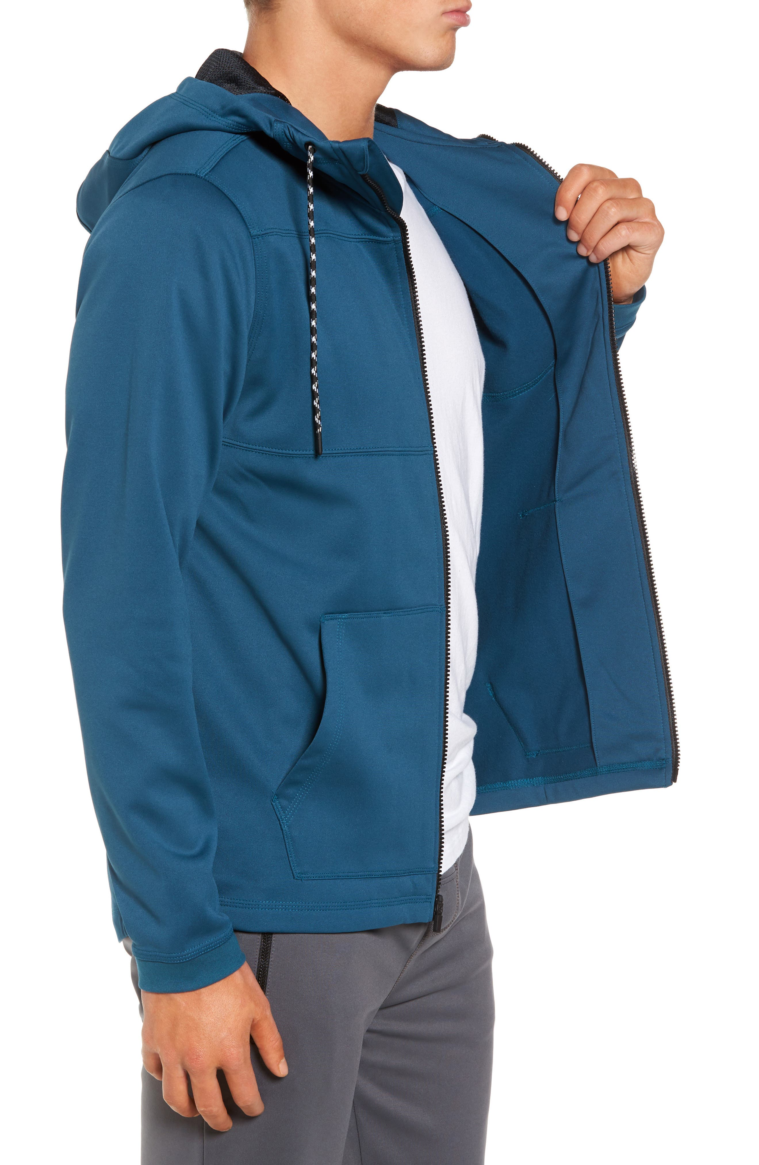 Therma Protect Zip Hoodie,                             Alternate thumbnail 3, color,                             Space Blue