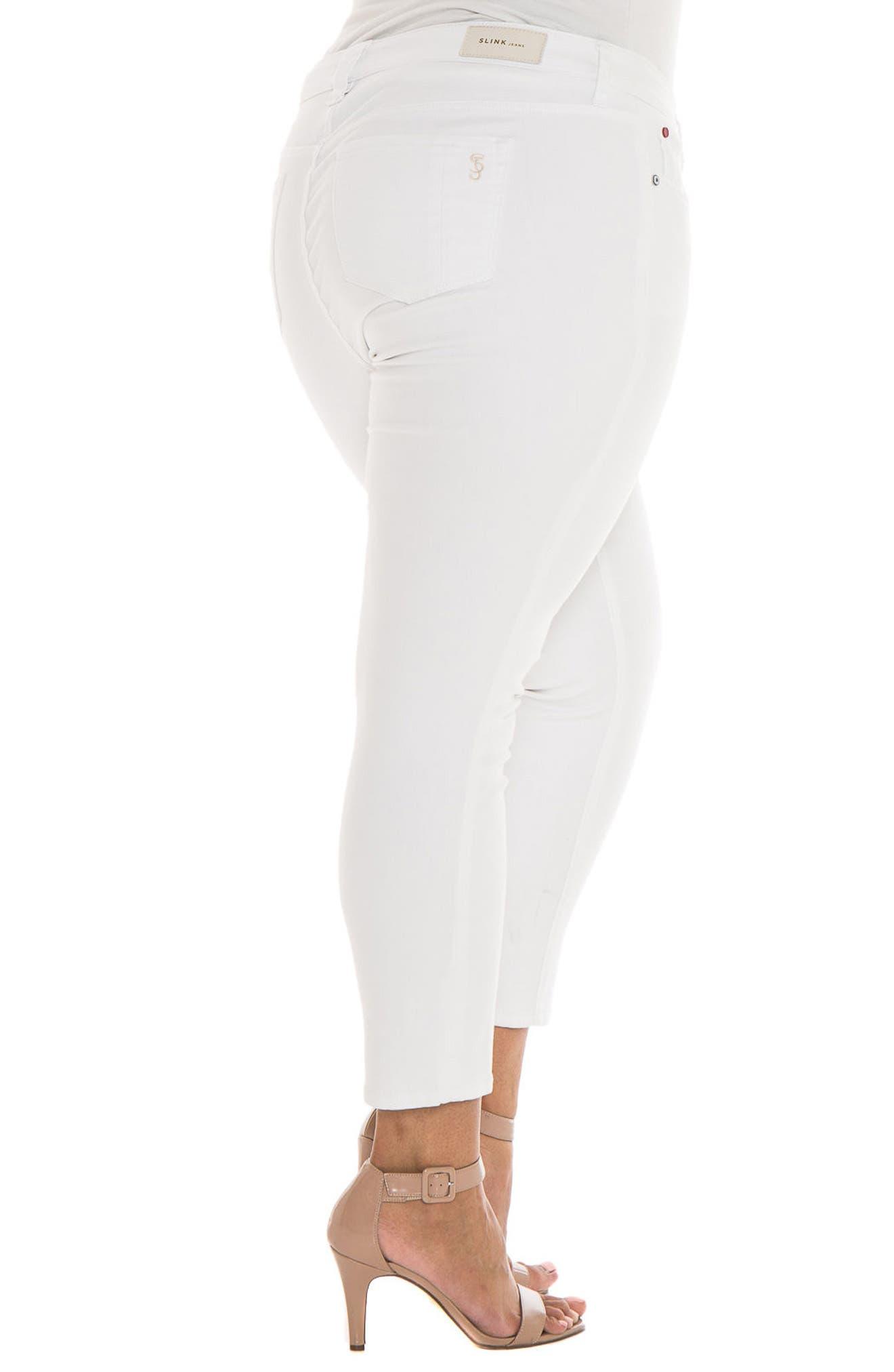 Alternate Image 2  - SLINK Jeans Stretch Skinny Jeans (Charlie) (Plus Size)