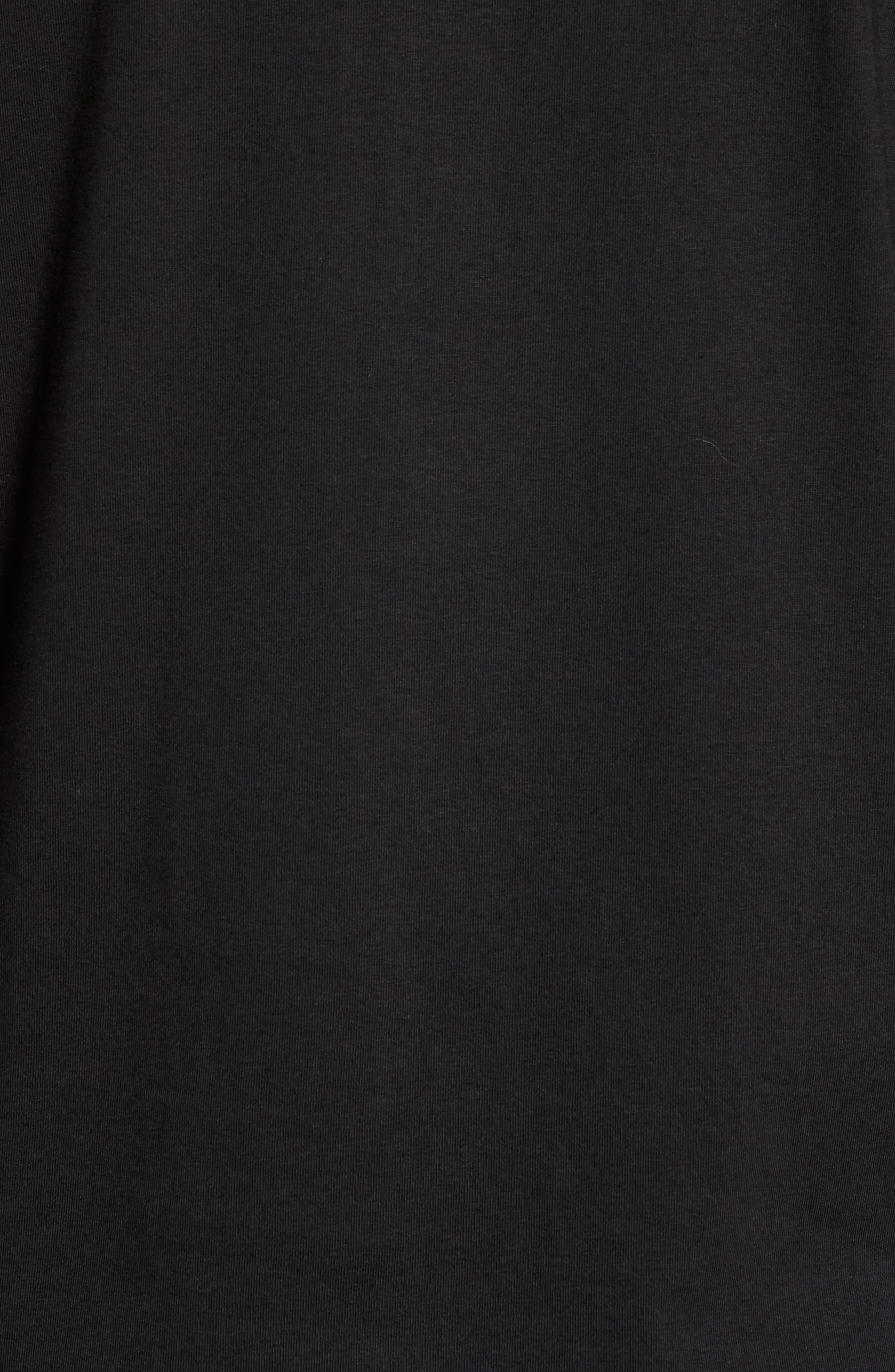 Charge Quarter-Zip Pullover,                             Alternate thumbnail 5, color,                             Black/ Gunmetal
