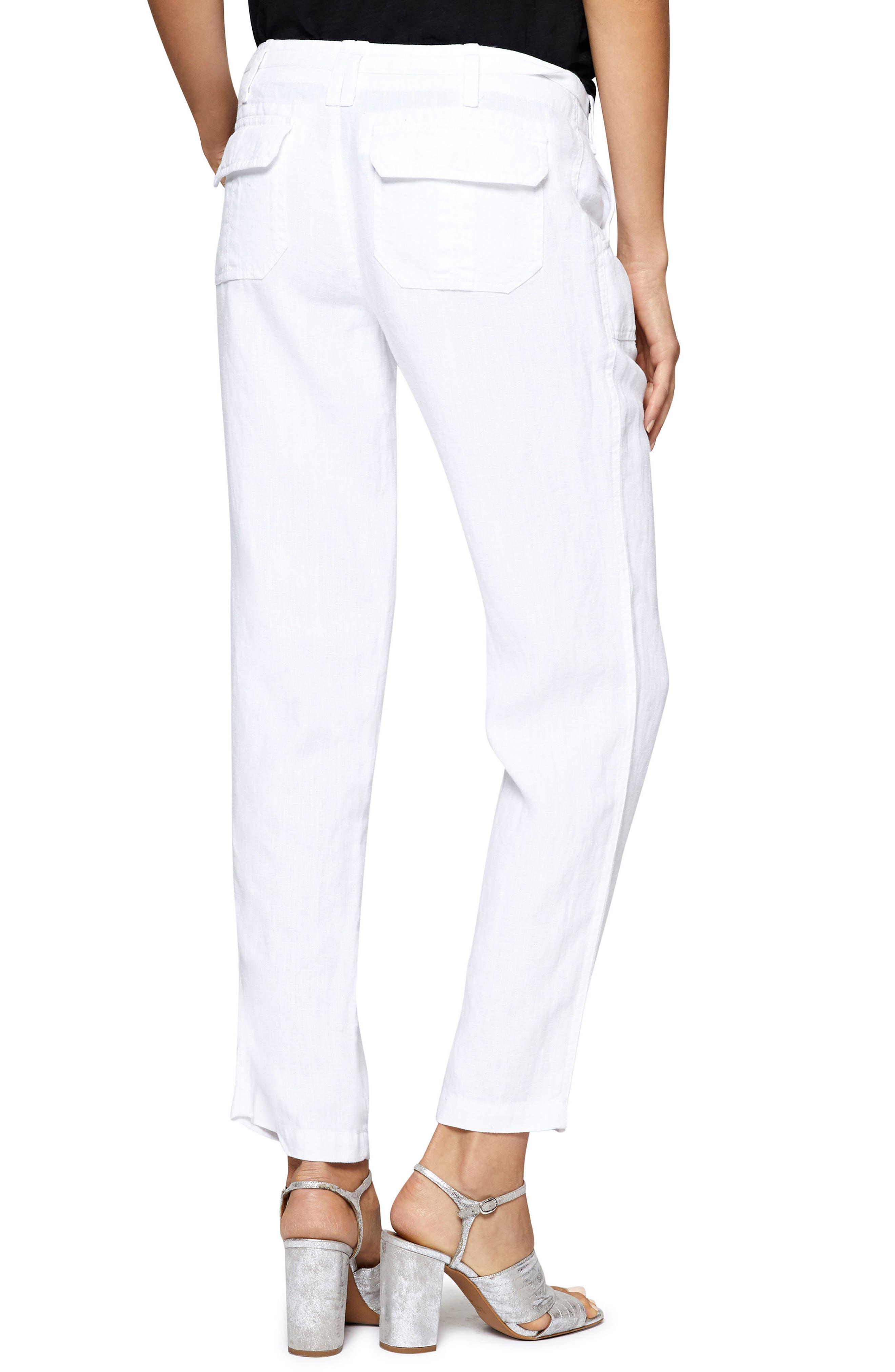 Beachcomber Linen Pants,                             Alternate thumbnail 2, color,                             White
