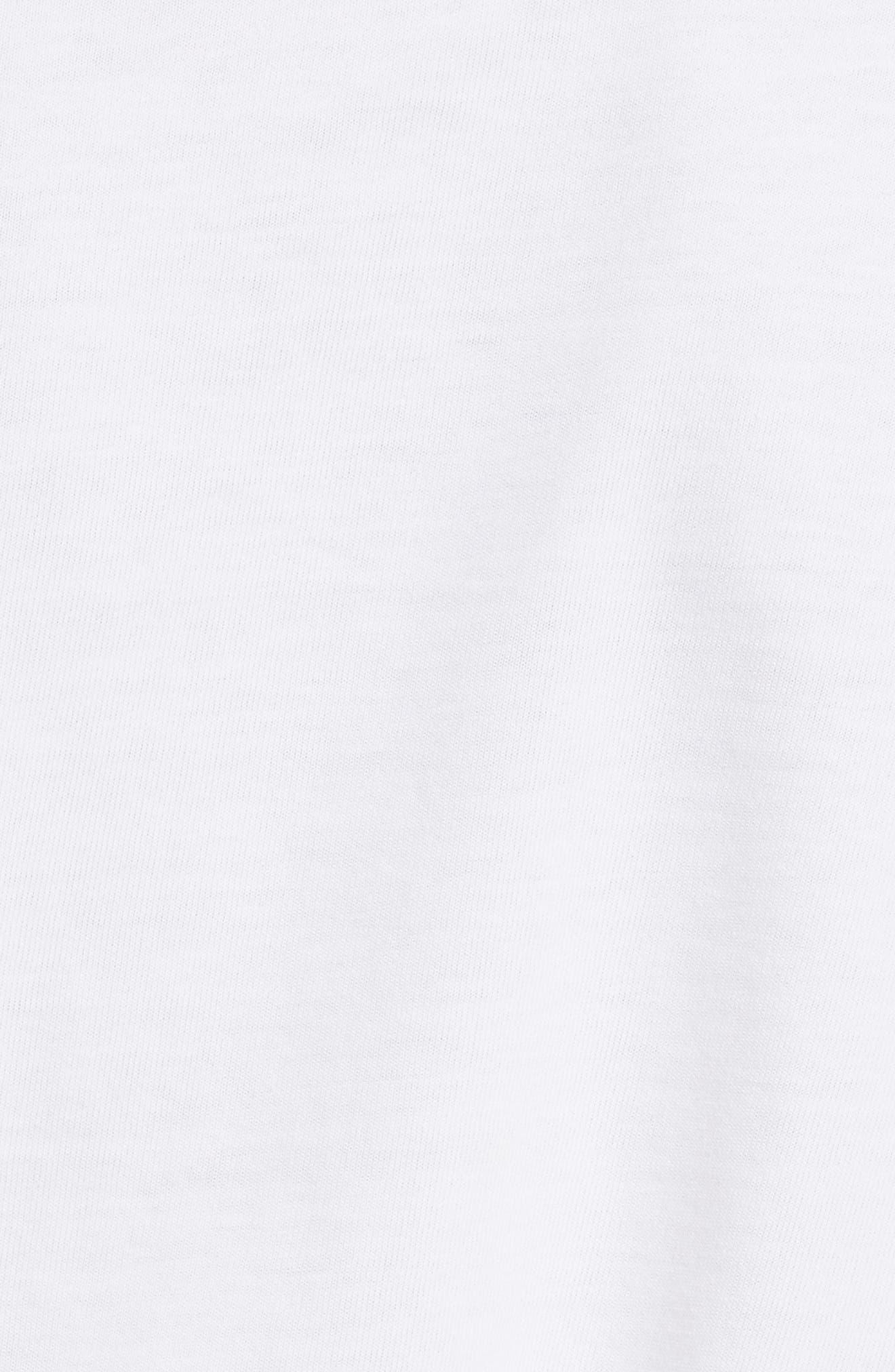 Zip Shoulder Long Sleeve Tee,                             Alternate thumbnail 5, color,                             White