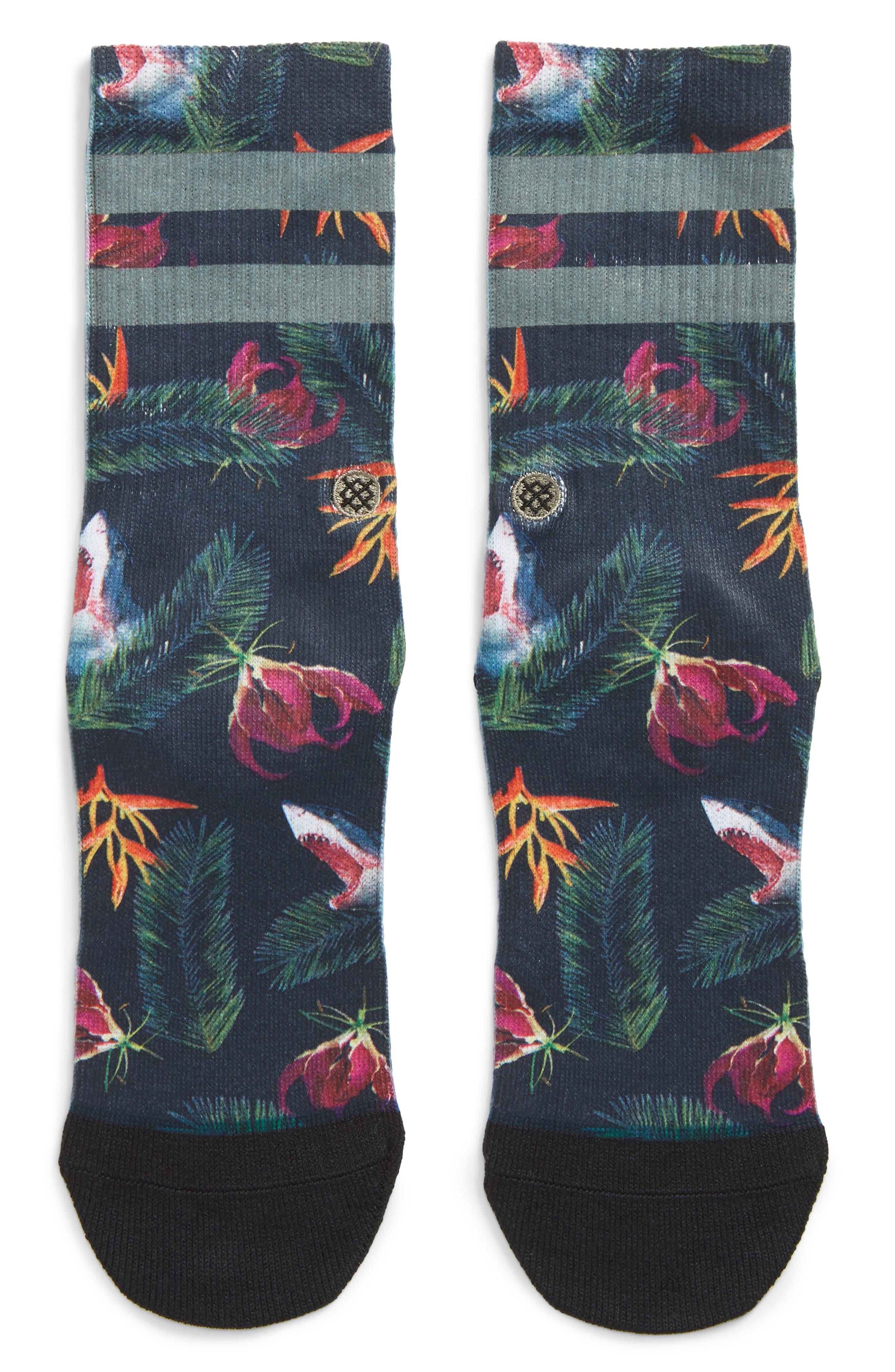 Stance Fish Food Crew Socks (Big Kid)