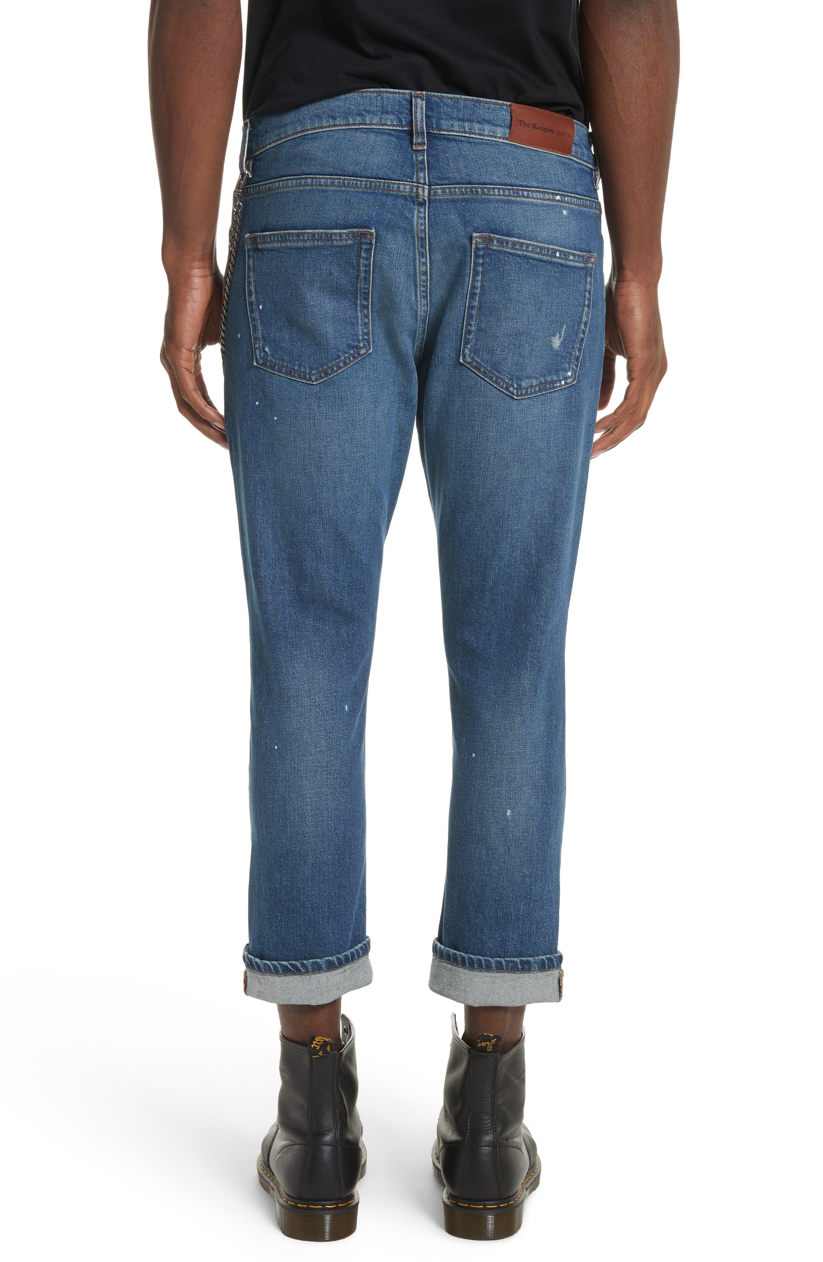 Cropped Jeans,                             Alternate thumbnail 2, color,                             Blue
