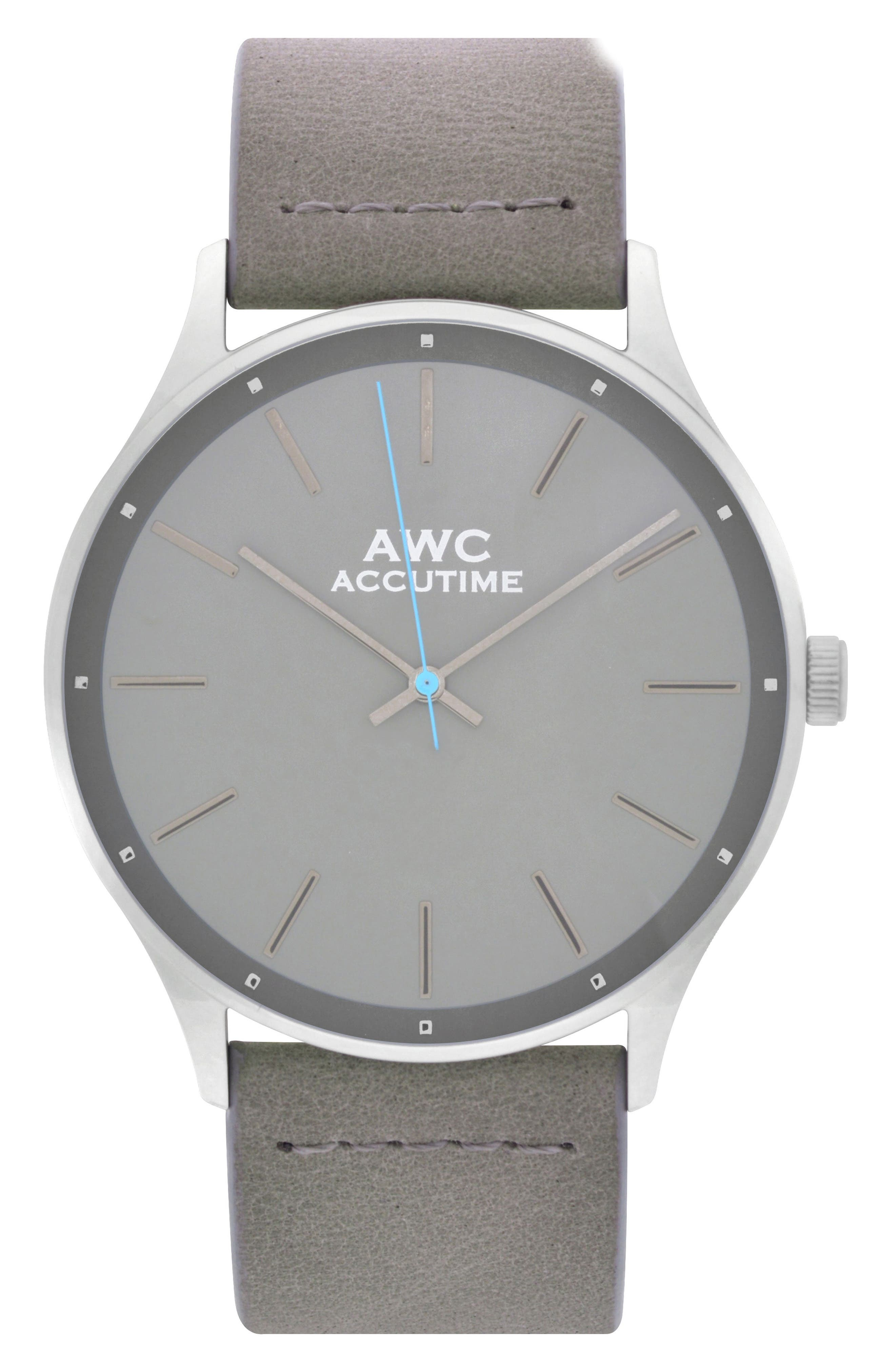 Alternate Image 1 Selected - Accutime Mark Suede Strap Watch, 42mm
