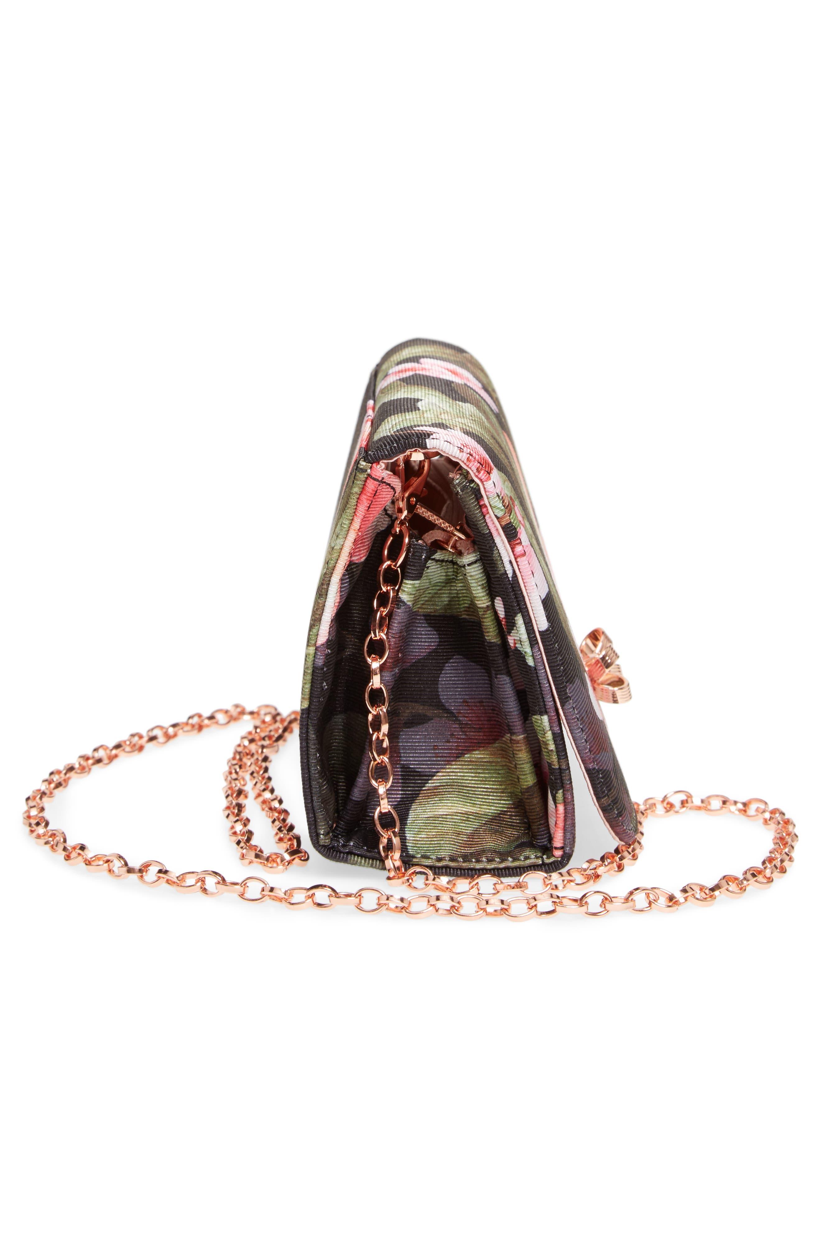 Pauleen Peach Blossom Crossbody Bag,                             Alternate thumbnail 5, color,                             Black