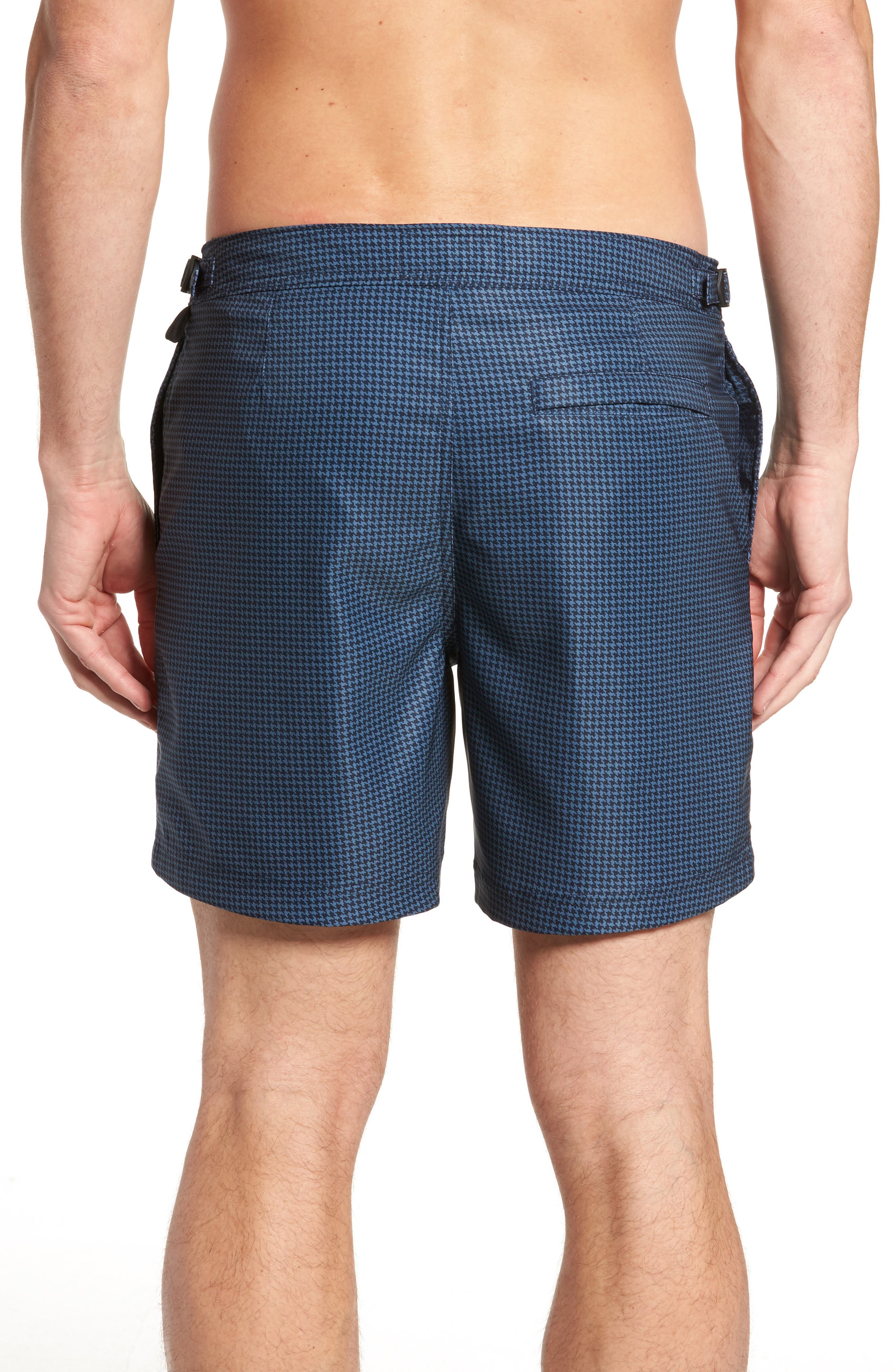Houndstooth Stretch Volley Board Shorts,                             Alternate thumbnail 2, color,                             Dark Sapphire