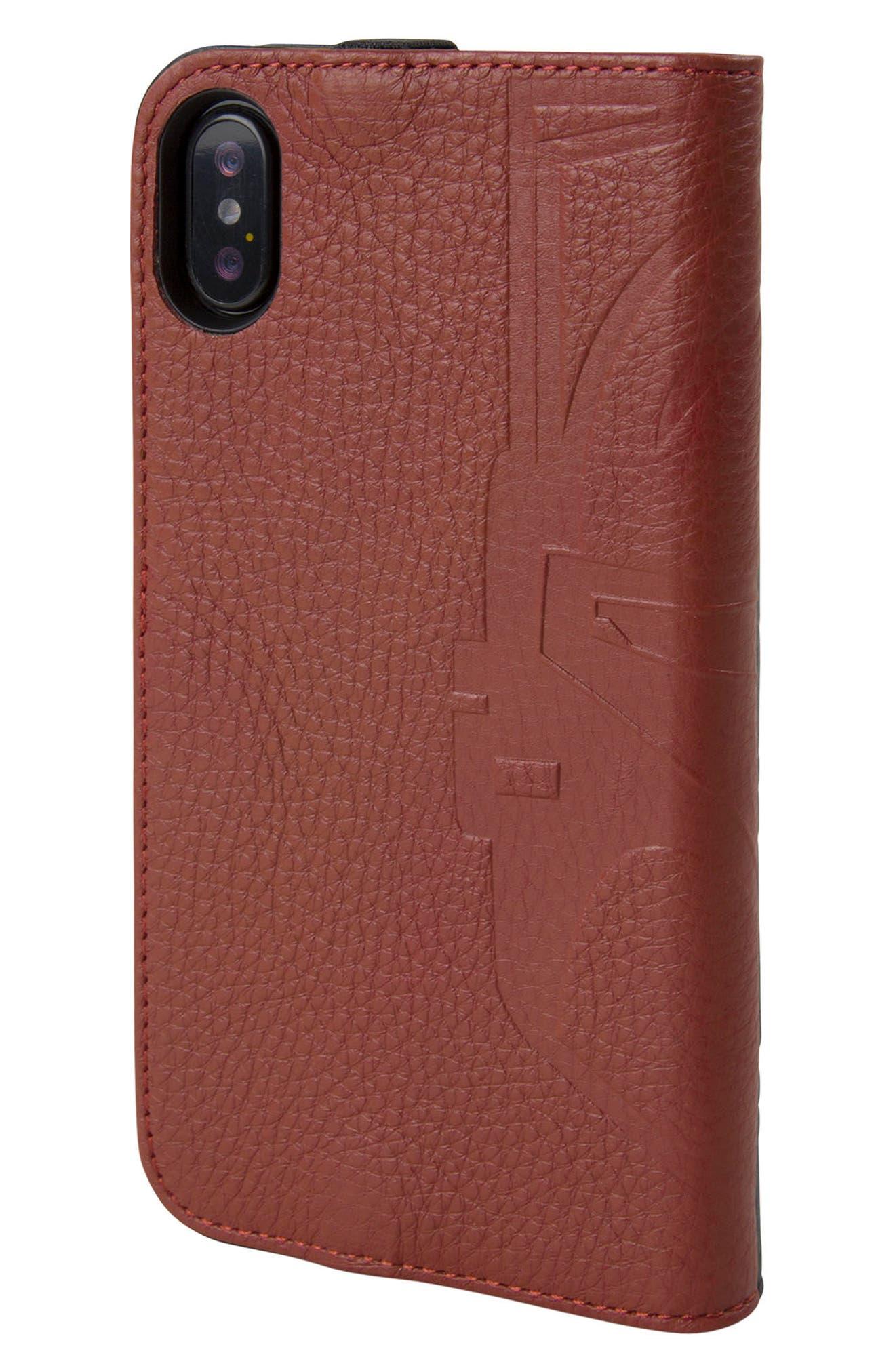 Boba Fett iPhone X Wallet Case,                             Alternate thumbnail 3, color,                             Burgundy