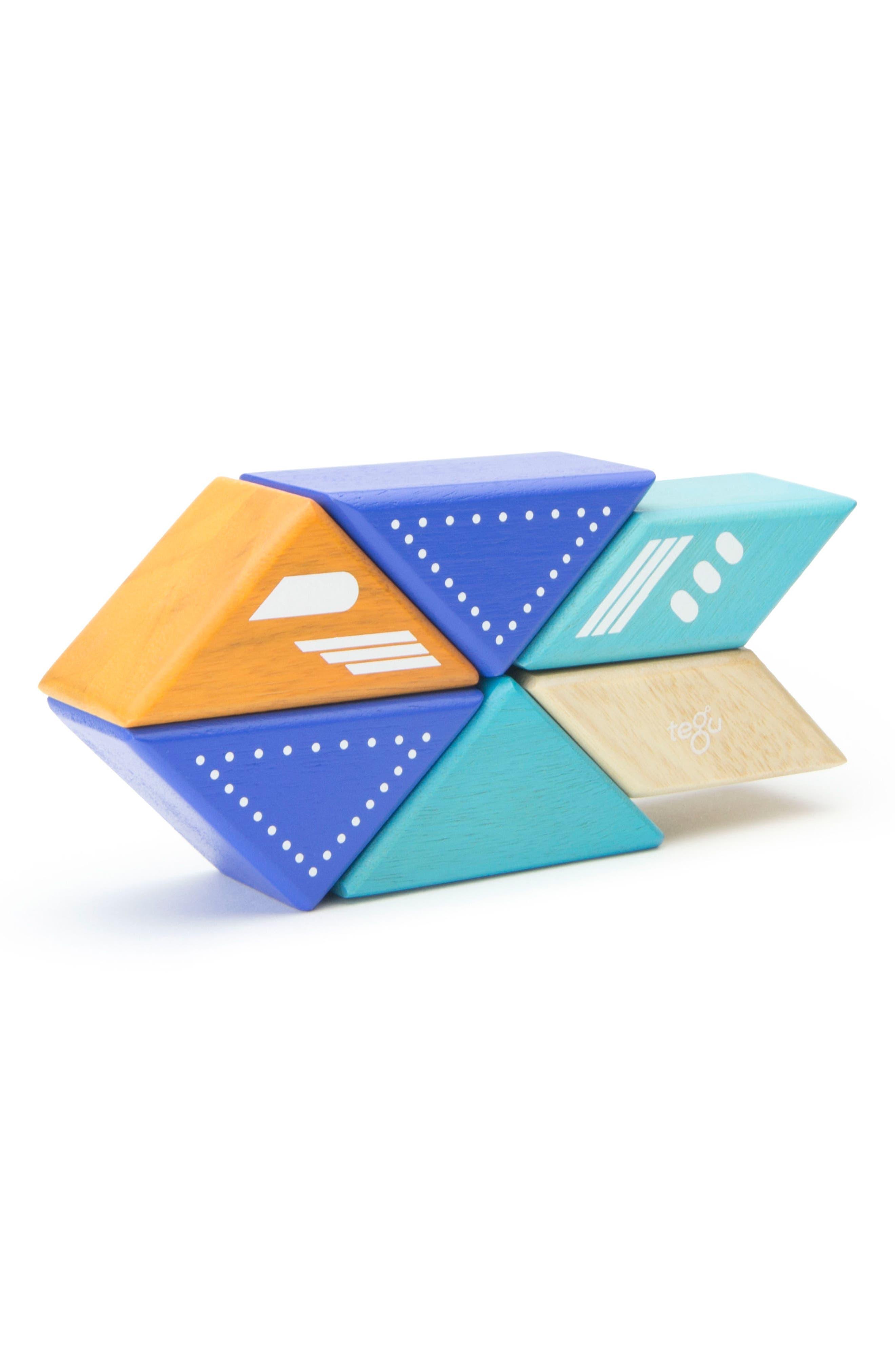 Travel Pals 6-Piece Jet Magnetic Block Set,                             Alternate thumbnail 10, color,                             Blue