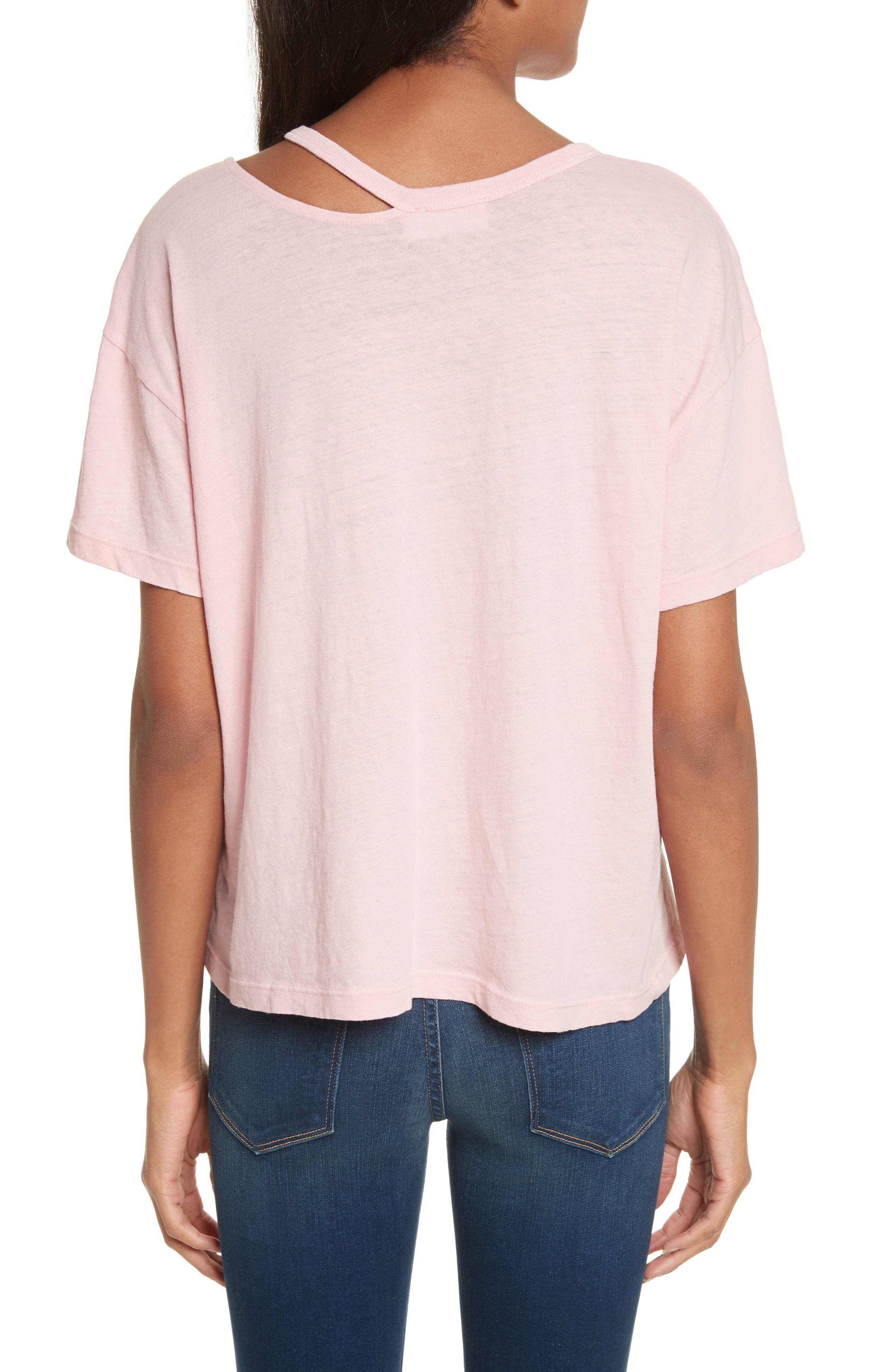 Chopped Crew Tee,                             Alternate thumbnail 2, color,                             Faded Light Pink Exclusive