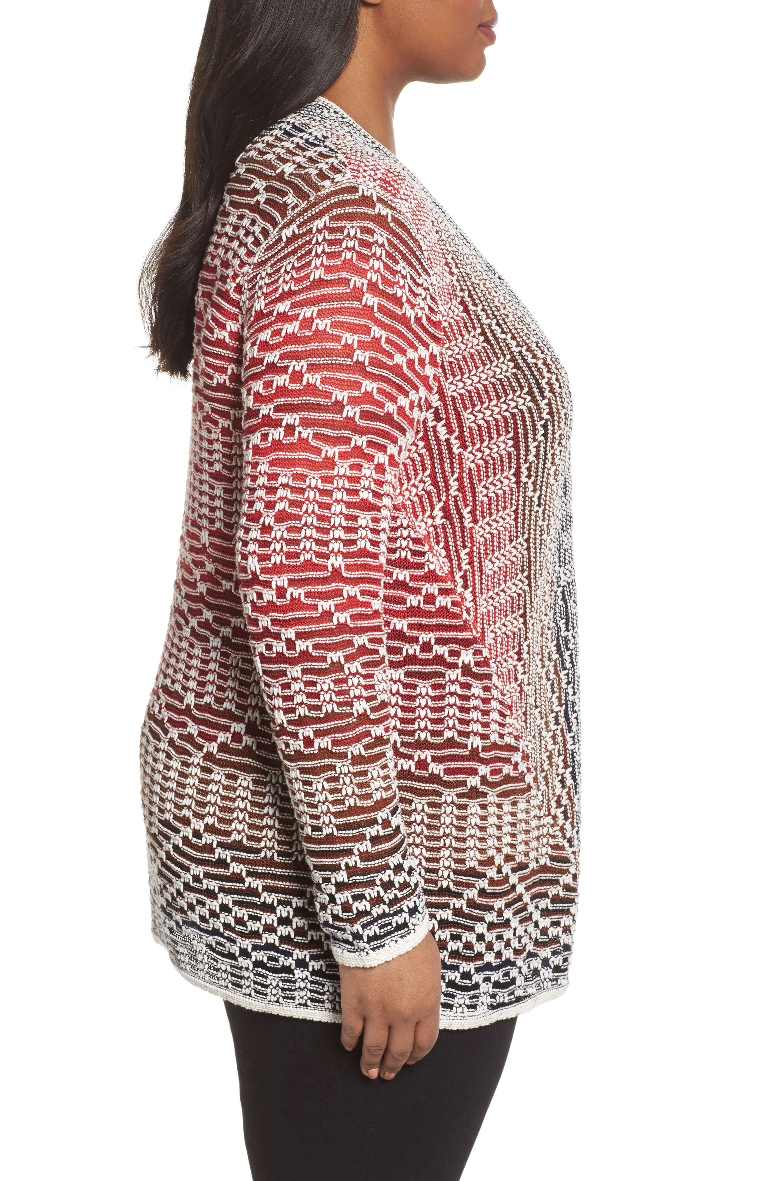 Alternate Image 3  - NIC+ZOE Fireside Cardigan (Plus Size)