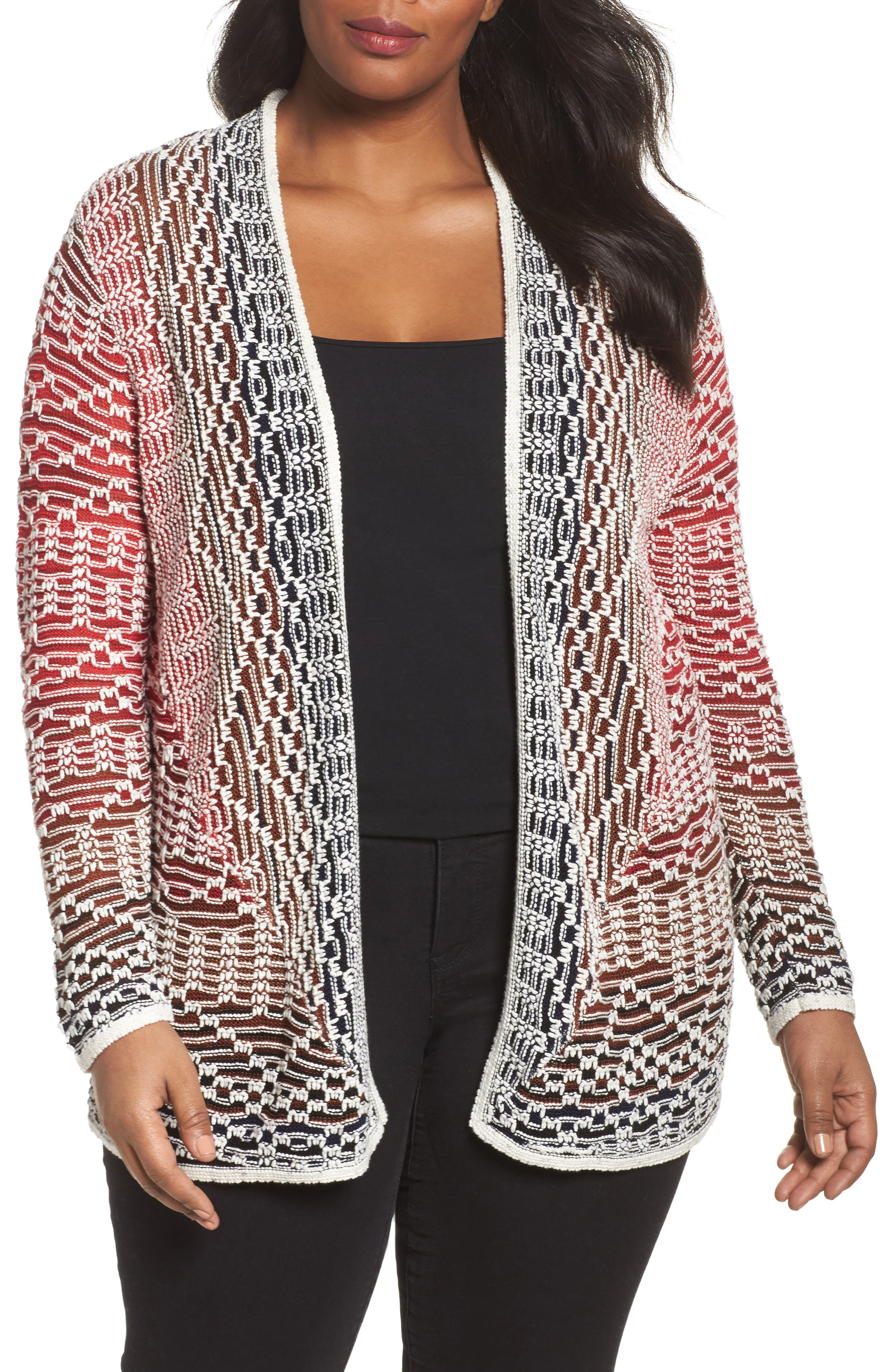 Alternate Image 1 Selected - NIC+ZOE Fireside Cardigan (Plus Size)