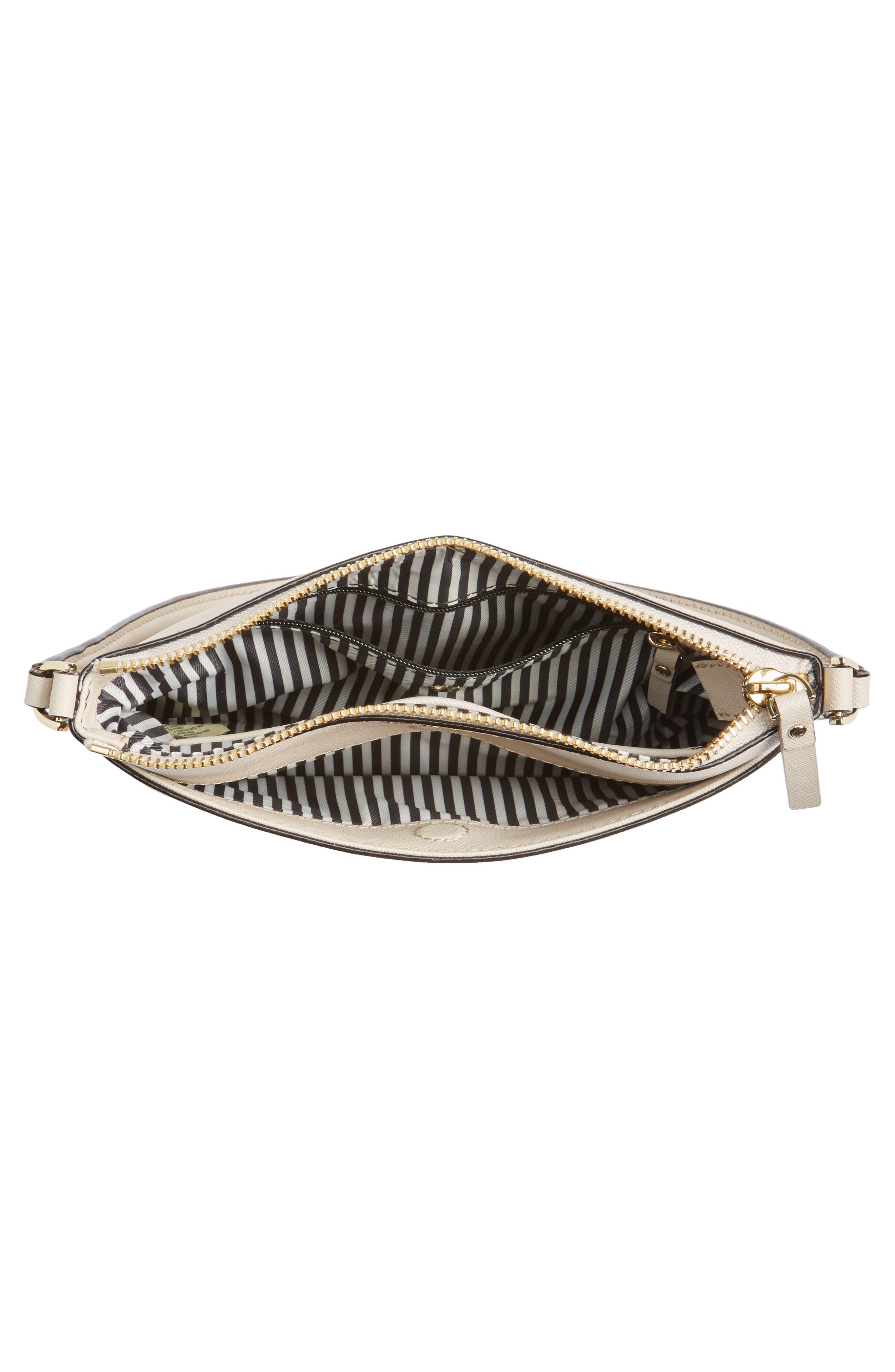 cameron street - tenley leather crossbody bag,                             Alternate thumbnail 4, color,                             Tusk