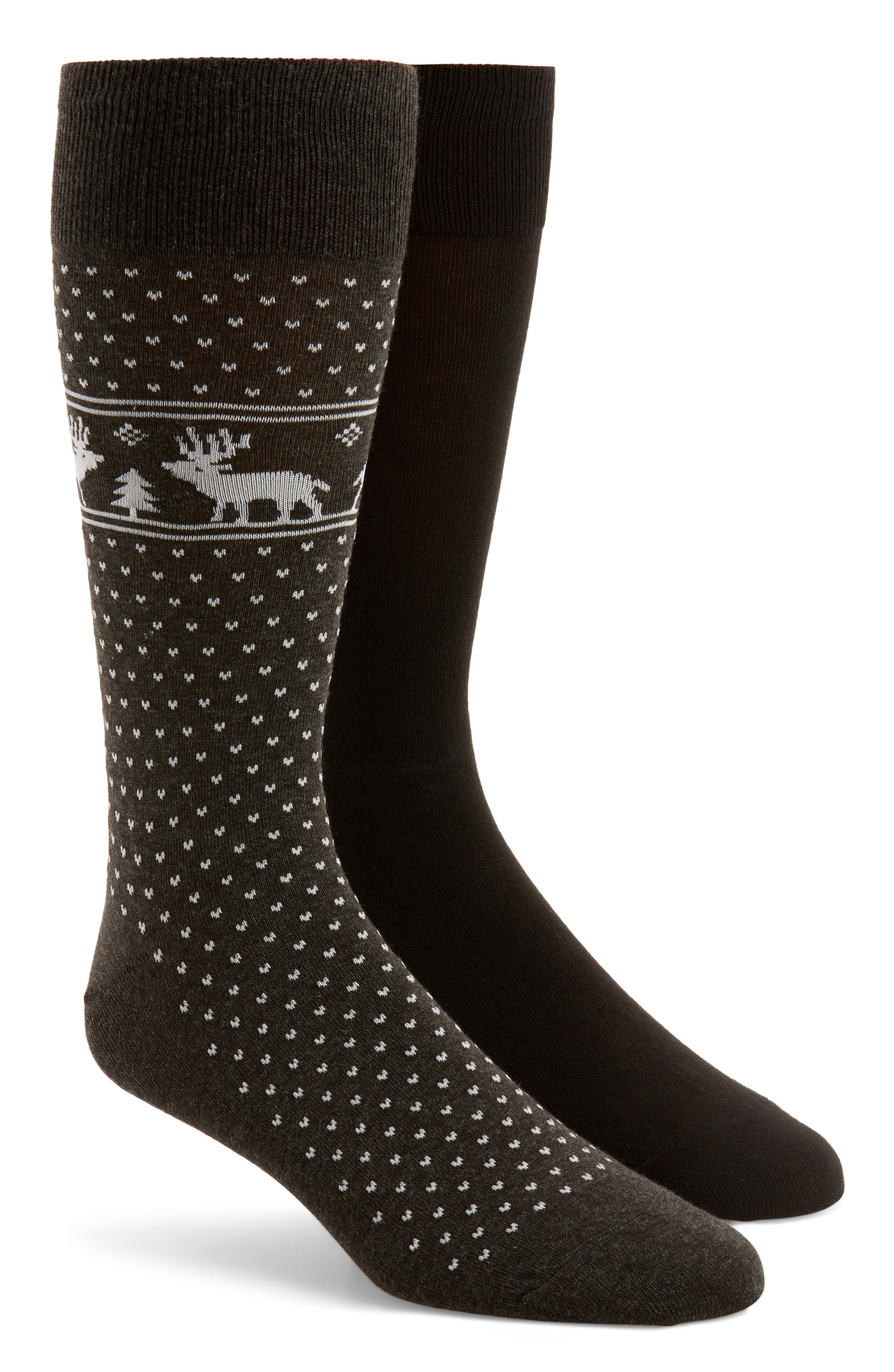 Polo Ralph Lauren 2-Pack Fair Isle Reindeer Socks