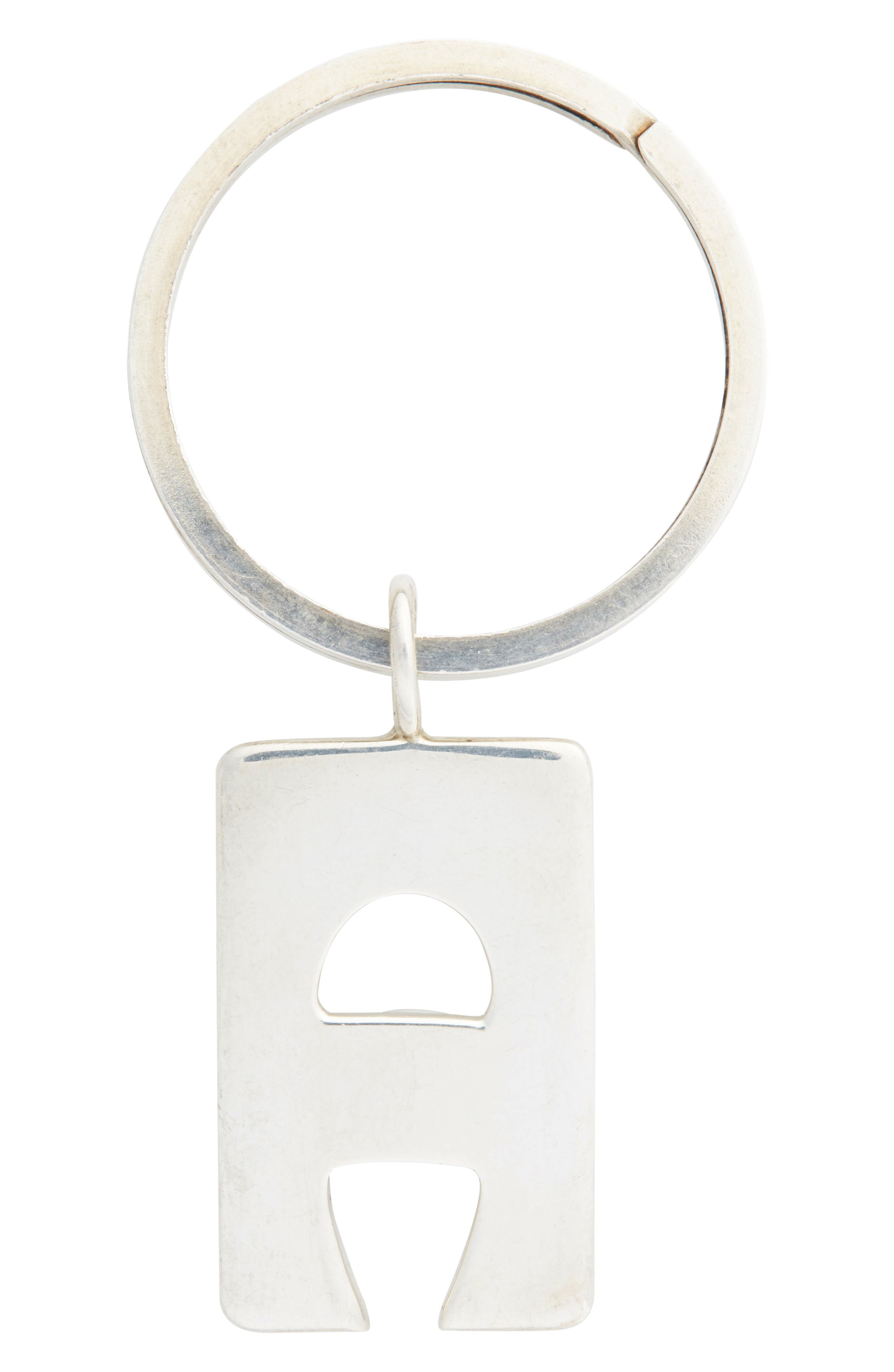 Foundwell Leonore Doskow One of a Kind Vintage Sterling Silver A-Pendant Keyring