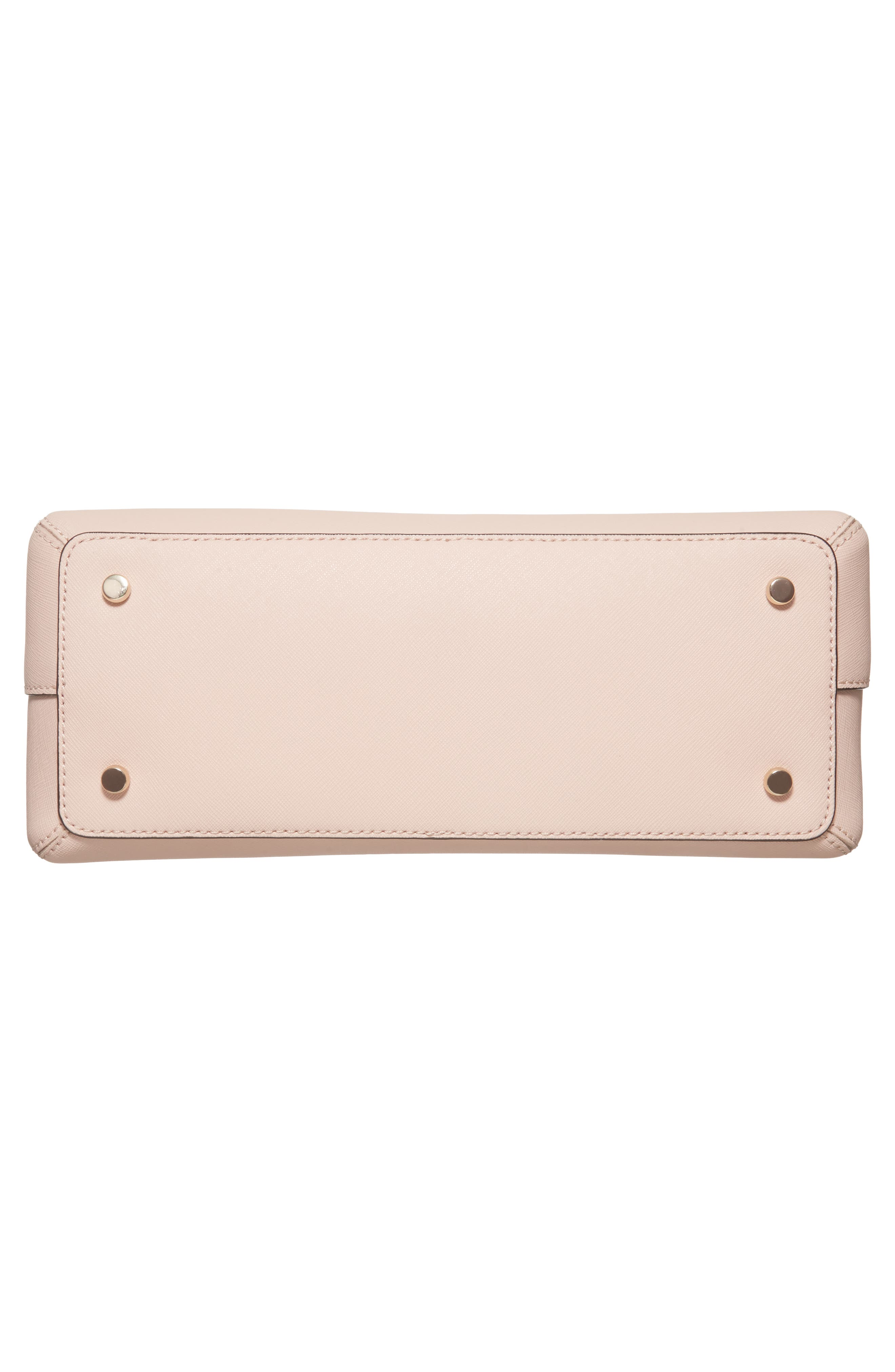 cameron street maise leather satchel,                             Alternate thumbnail 5, color,                             Warm Vellum
