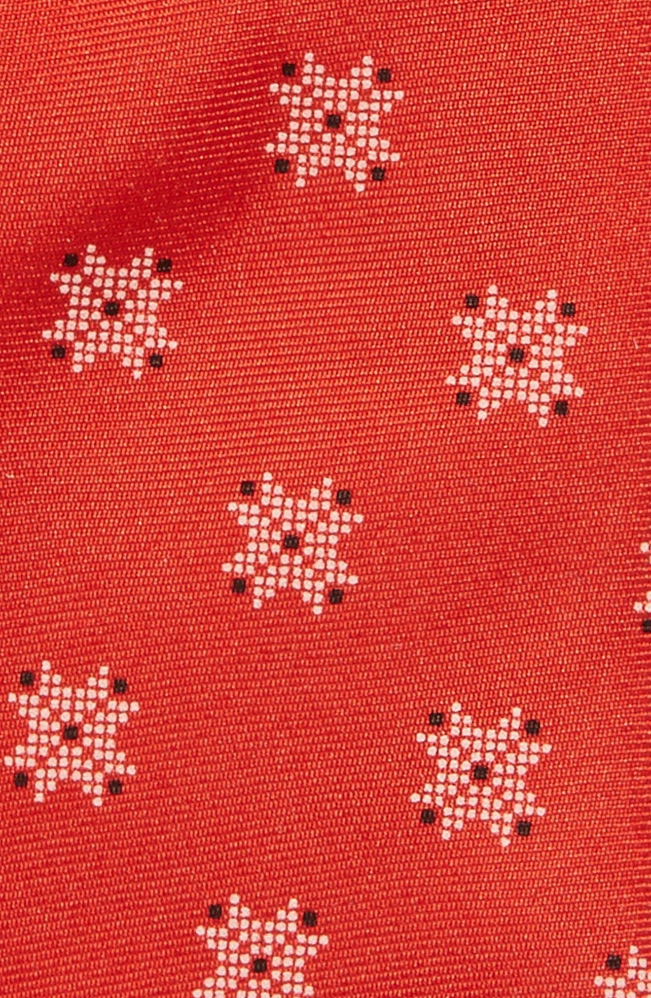 Patterned Silk Tie,                             Alternate thumbnail 2, color,                             Red