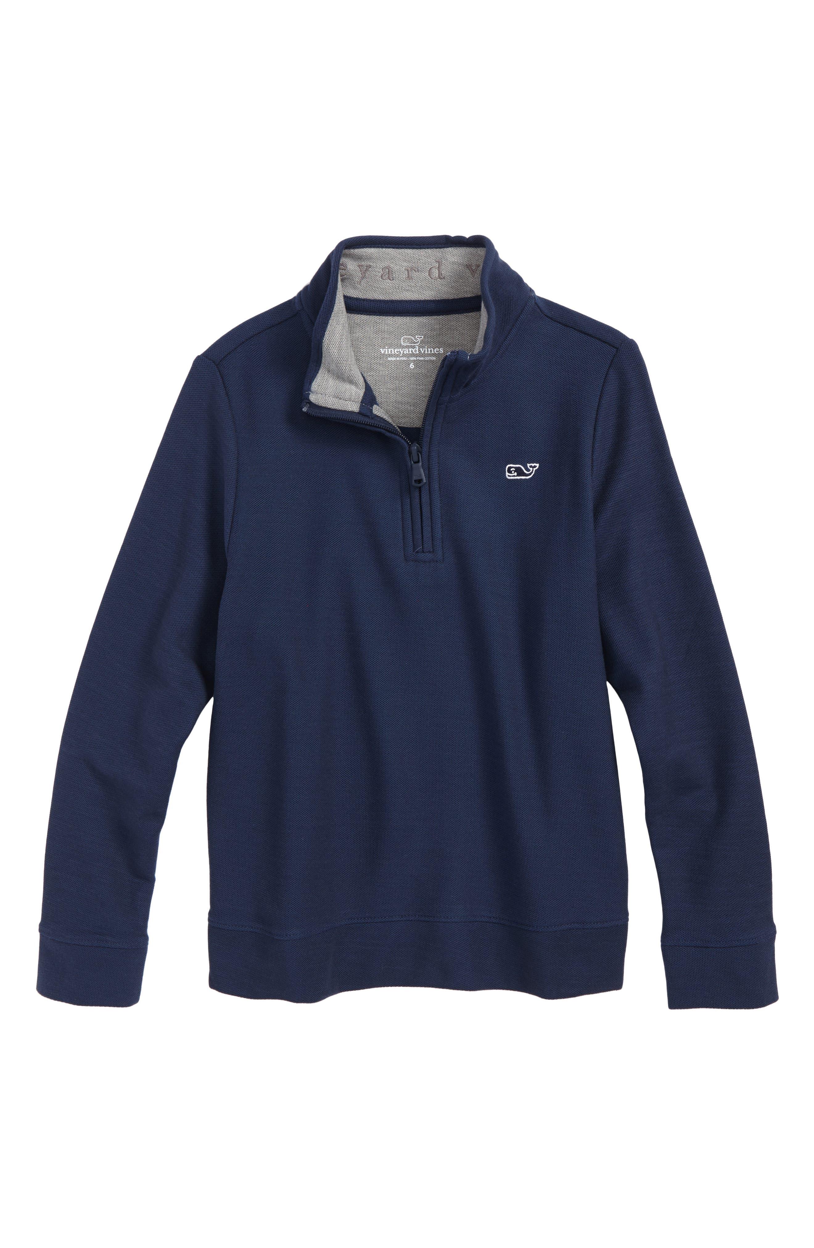 Quarter Zip Sweater,                         Main,                         color, Vineyard Navy