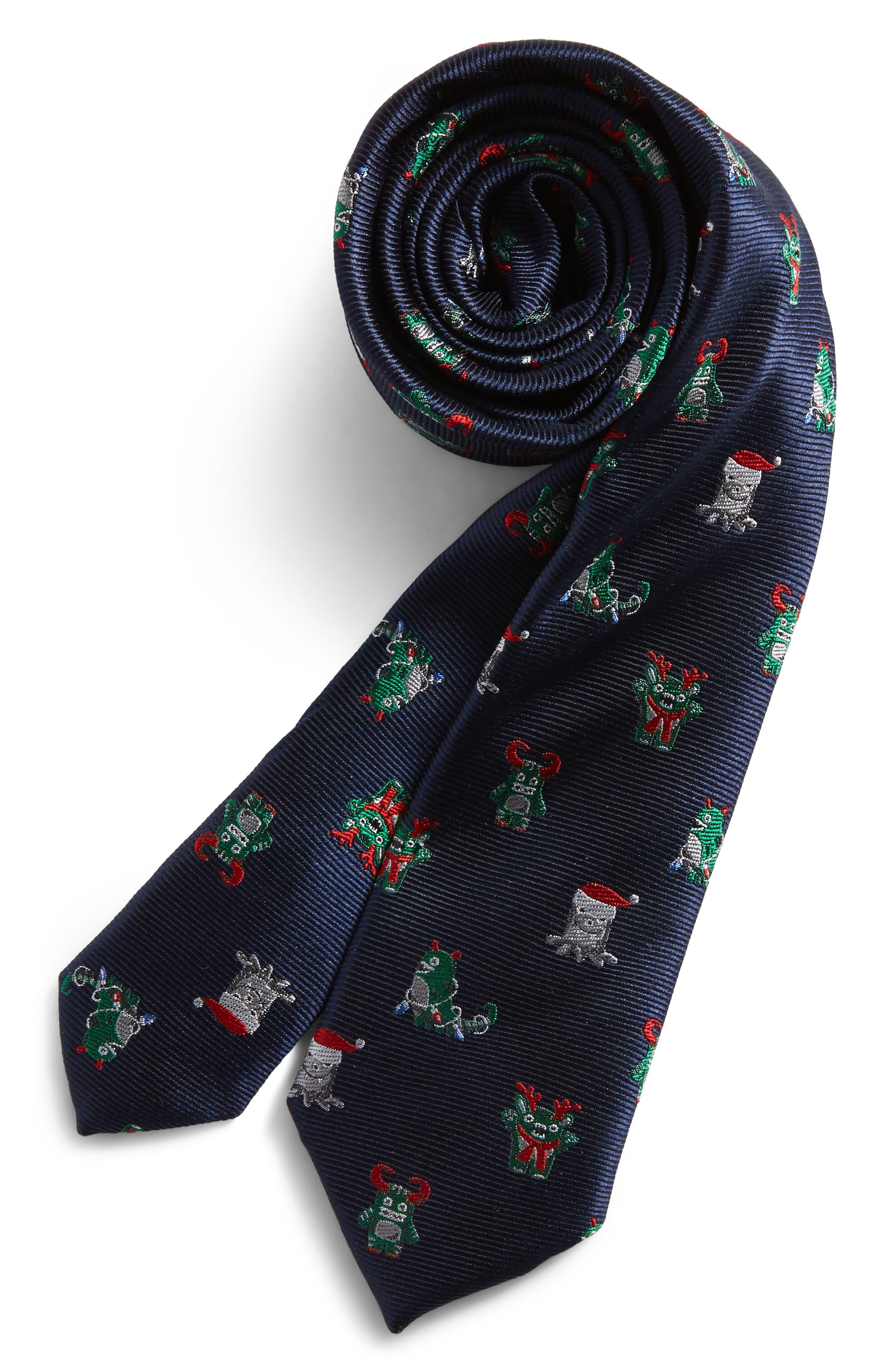 Alternate Image 1 Selected - Nordstrom Patterned Silk Tie (Big Boys)