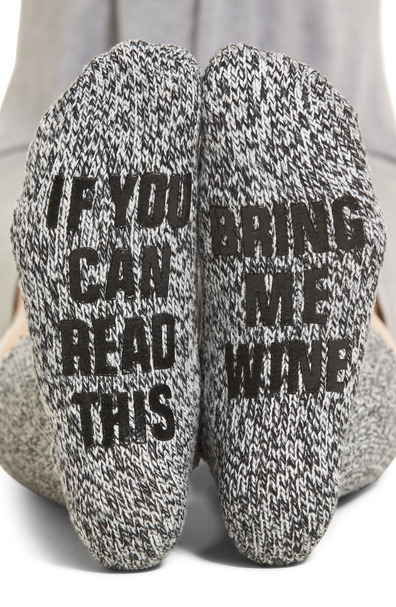 Nordstrom If You Can Read This Crew Socks