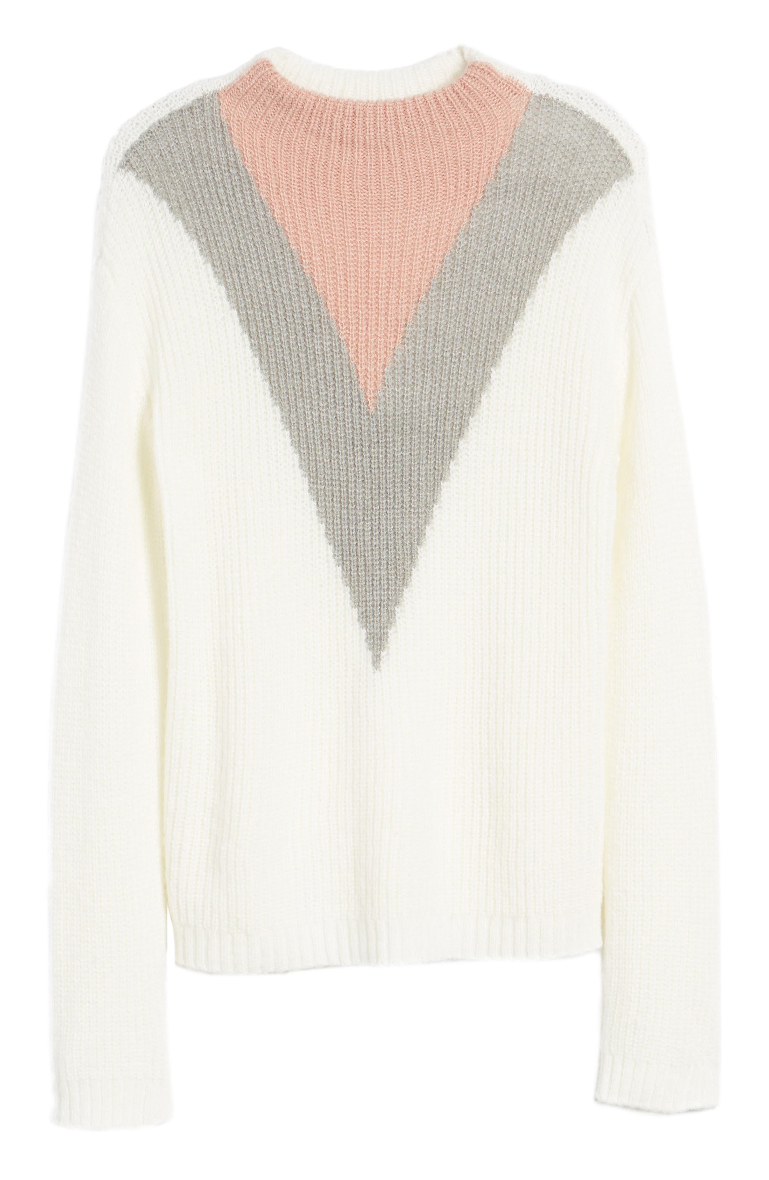 Alternate Image 6  - Cotton Emporium Tri-Color Après Ski Sweater