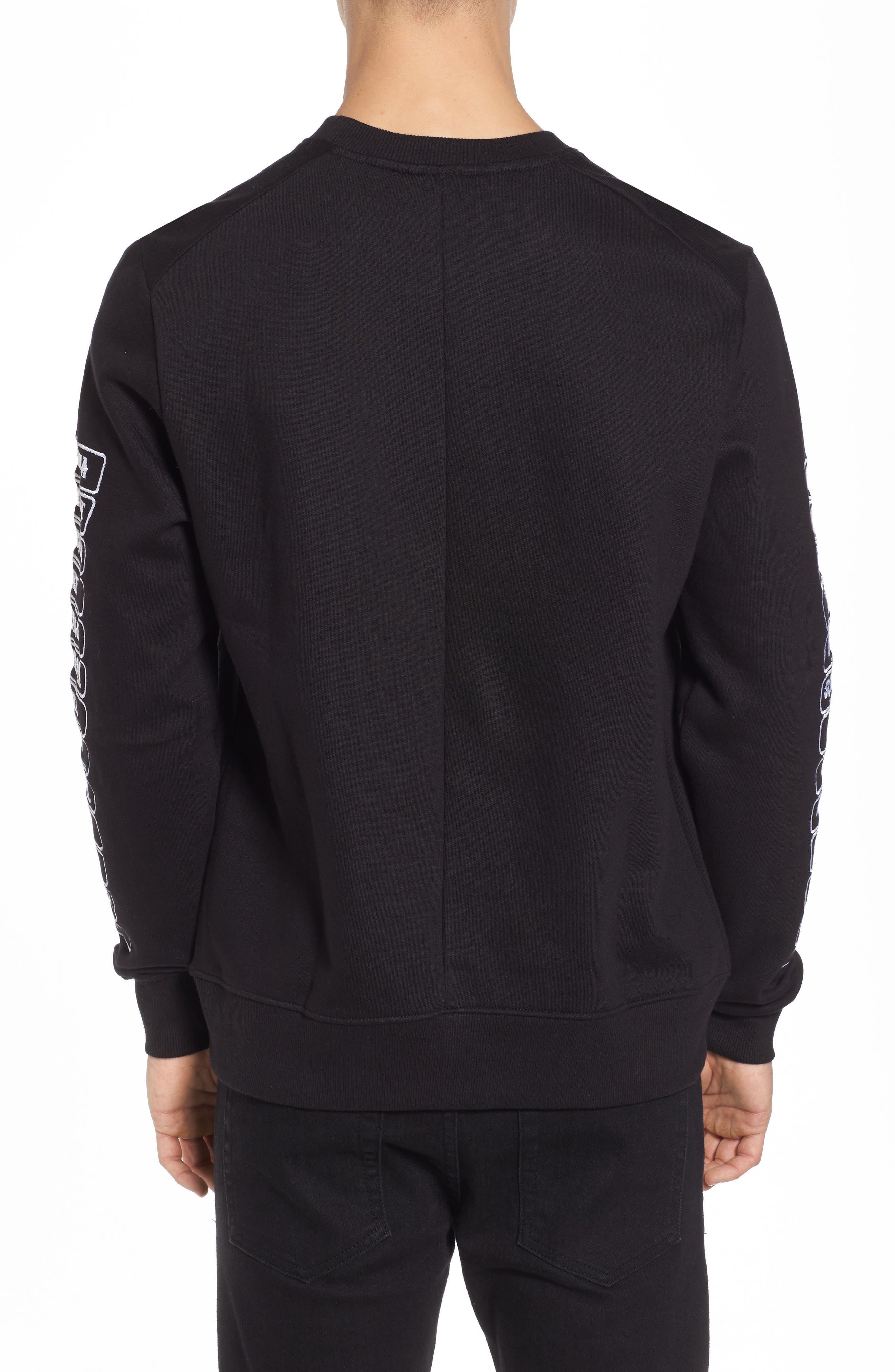 Meace Fleece Sweatshirt,                             Alternate thumbnail 2, color,                             Black