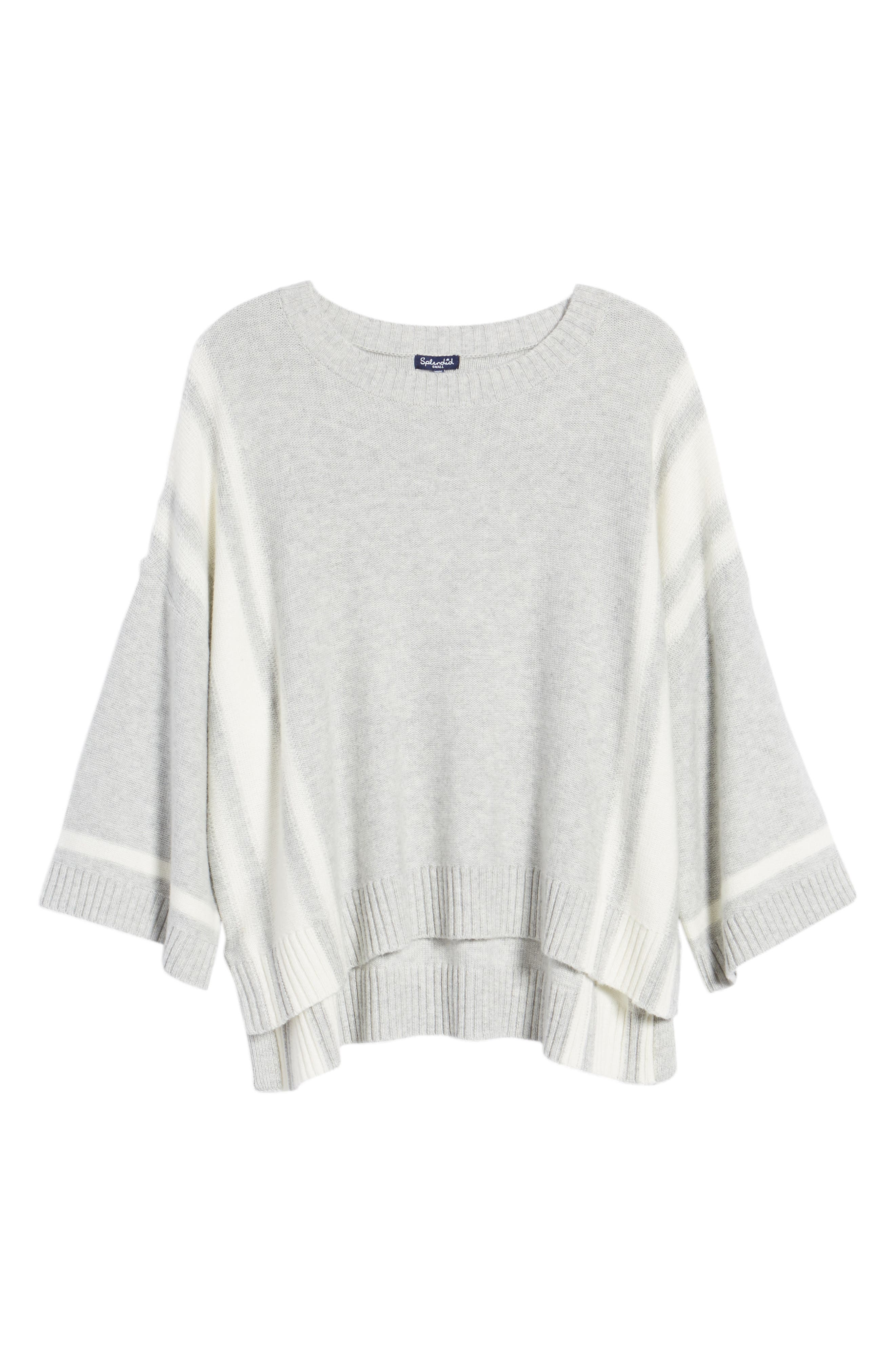 Bell Sleeve Sweater,                             Alternate thumbnail 7, color,                             Grey