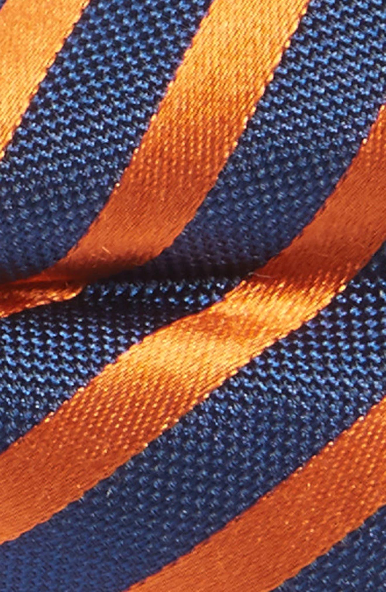 Stripe Silk Bow Tie,                             Alternate thumbnail 2, color,                             Orange