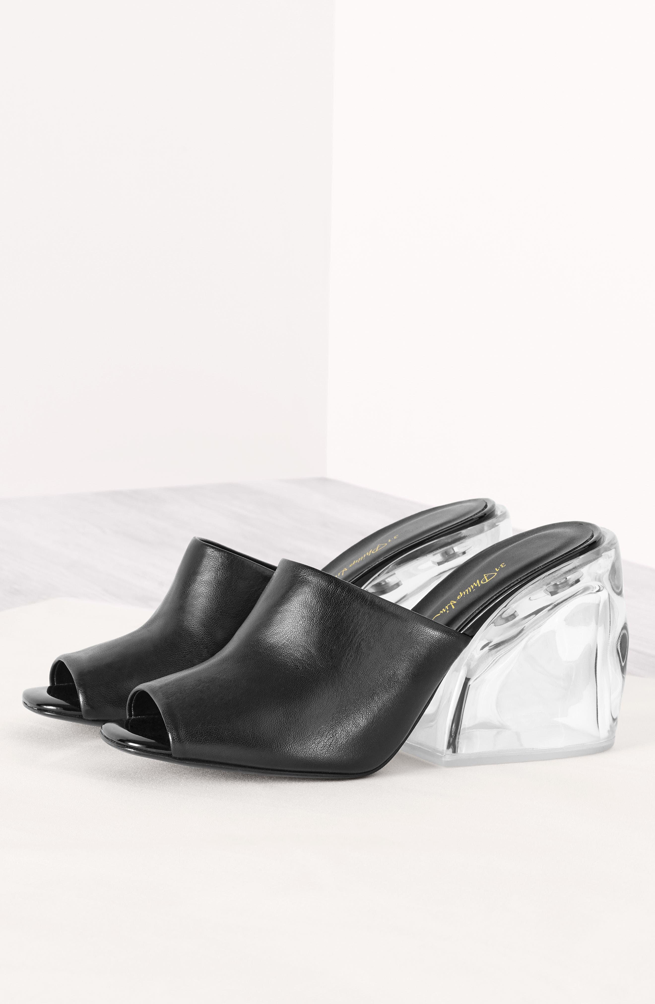 Transparent Wedge Slide Sandal,                             Alternate thumbnail 7, color,