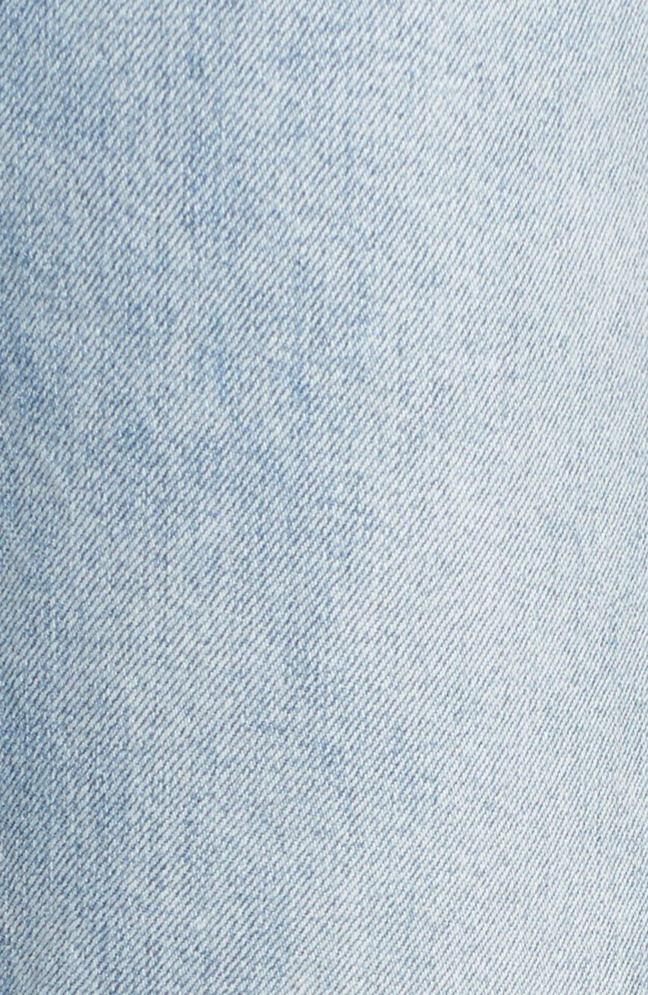 Patti Crop Straight Leg Jeans,                             Alternate thumbnail 6, color,                             Deluxe