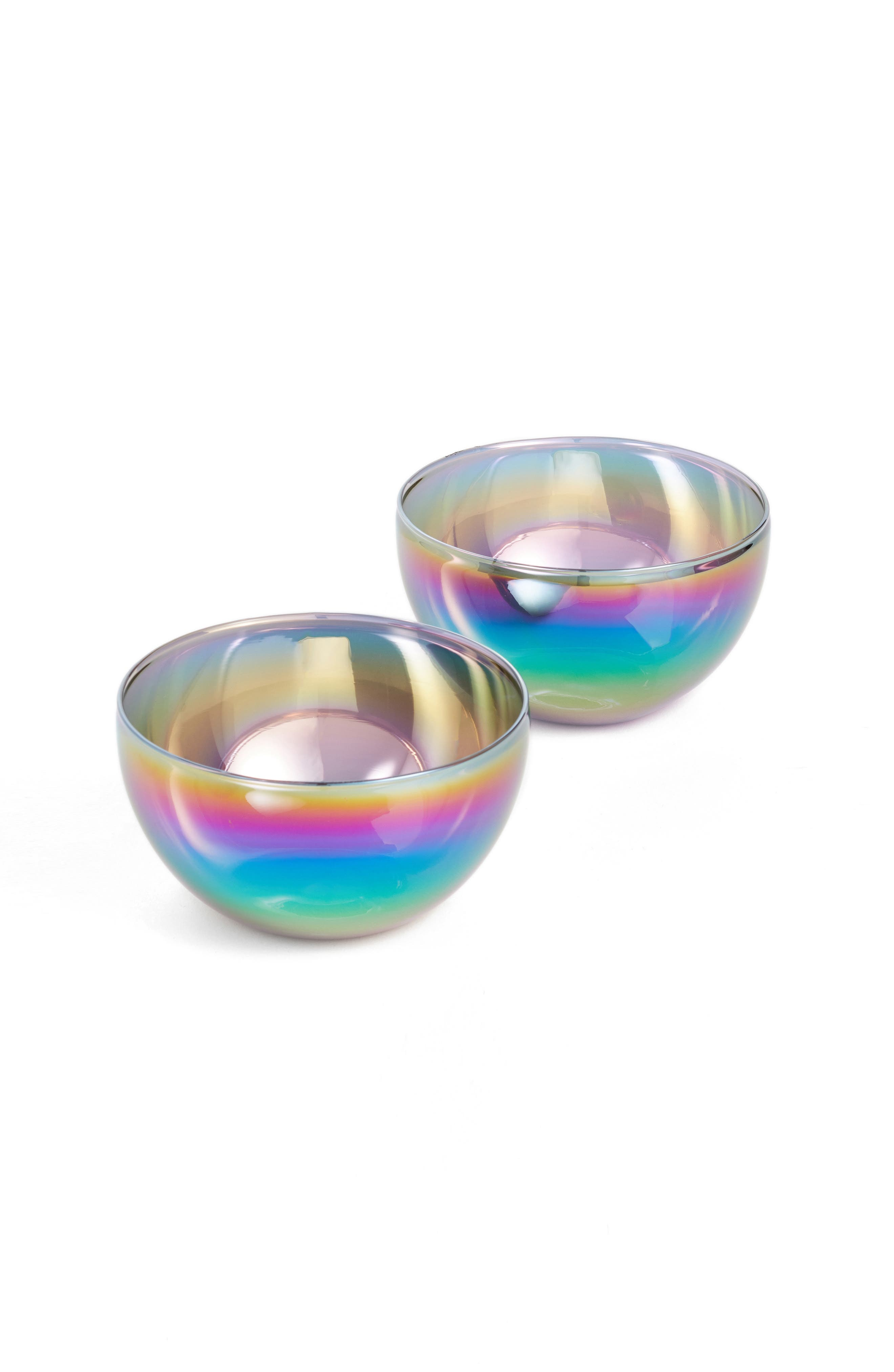 MoMA Design Store Shimmerware Set of 2 Electroplated Glass Bowls