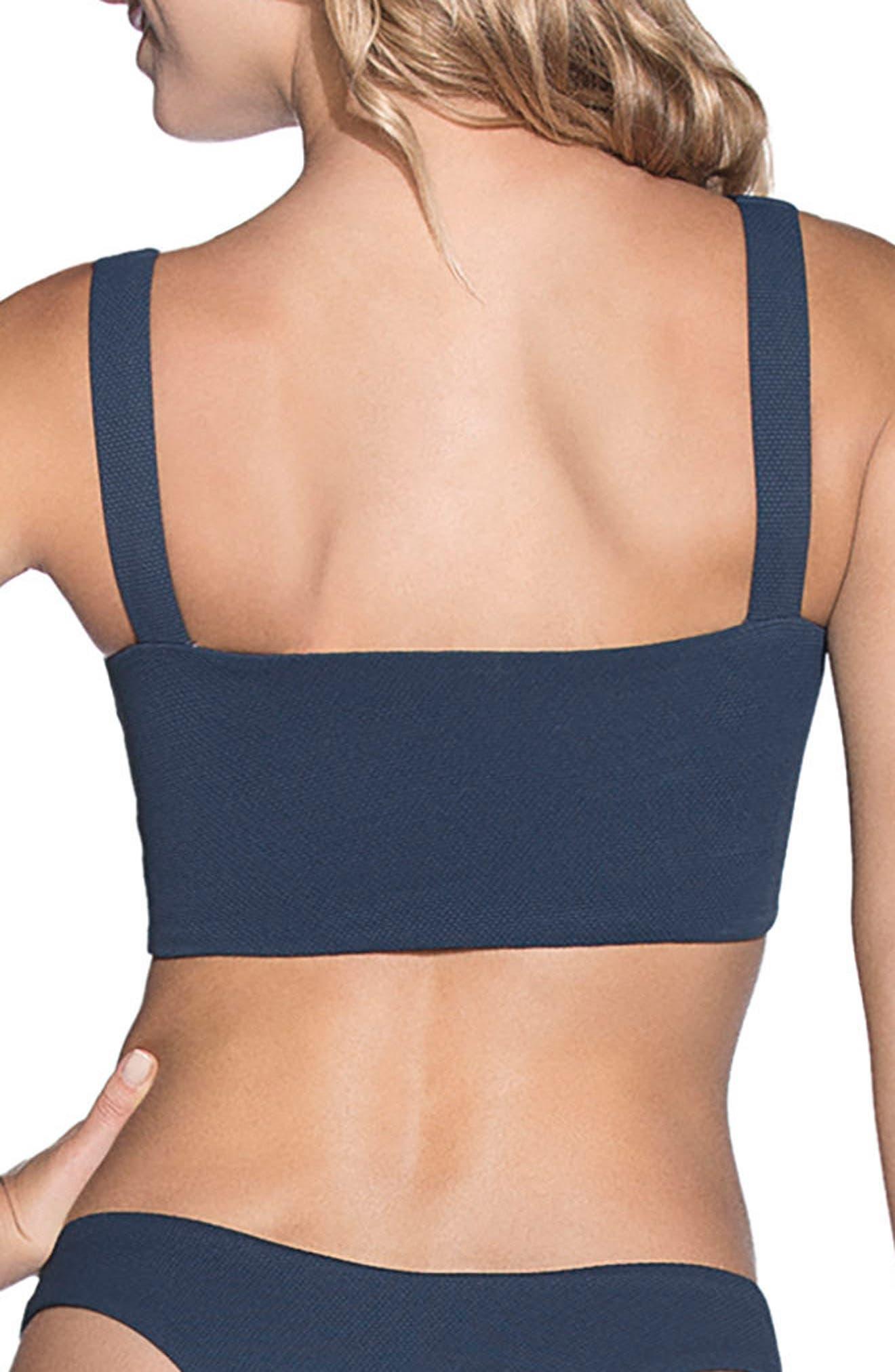 Stargazer Reversible Bikini Top,                             Alternate thumbnail 3, color,                             Heritage Blue