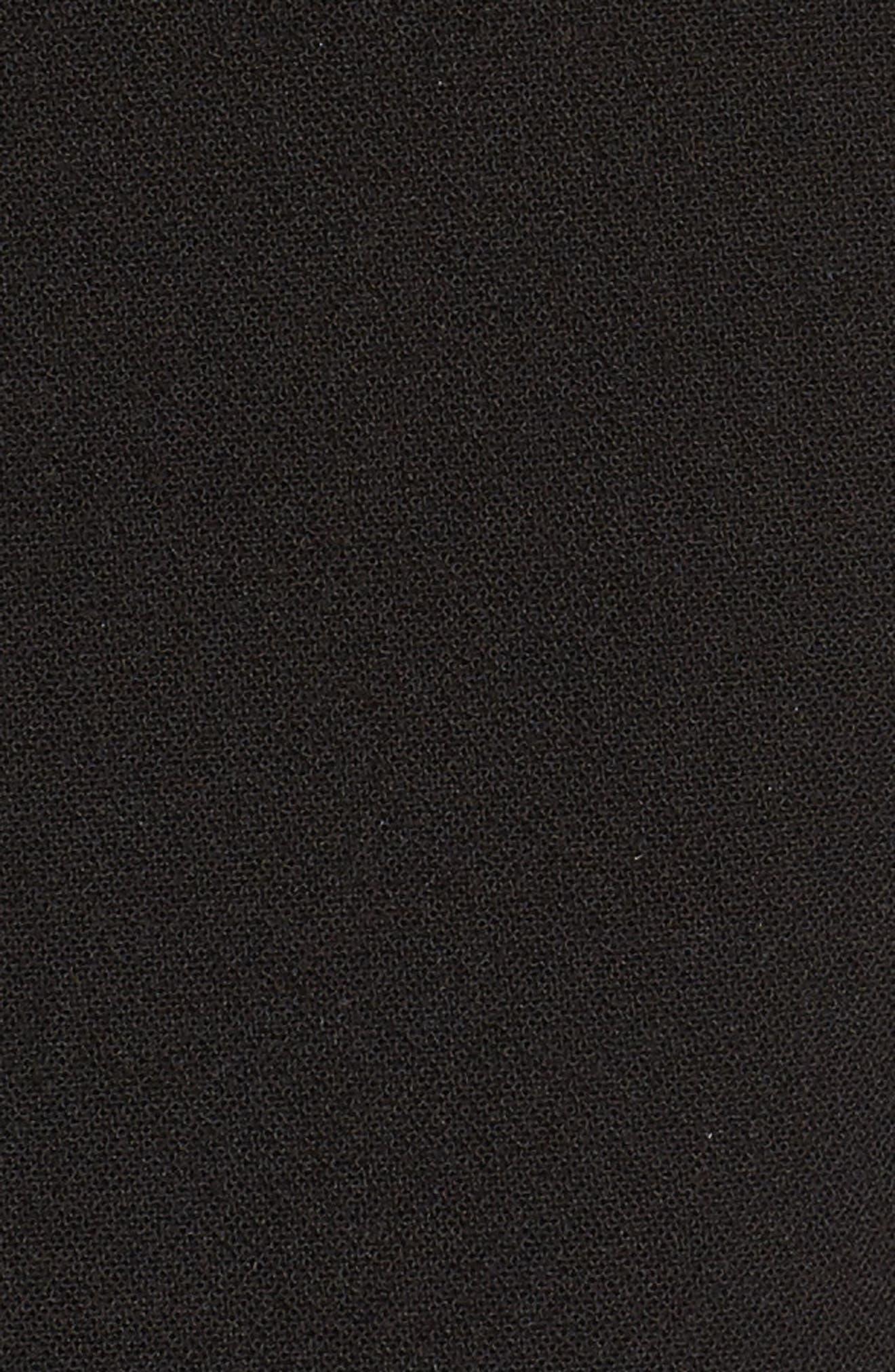 Tulip Ruffle Dress,                             Alternate thumbnail 5, color,                             Black