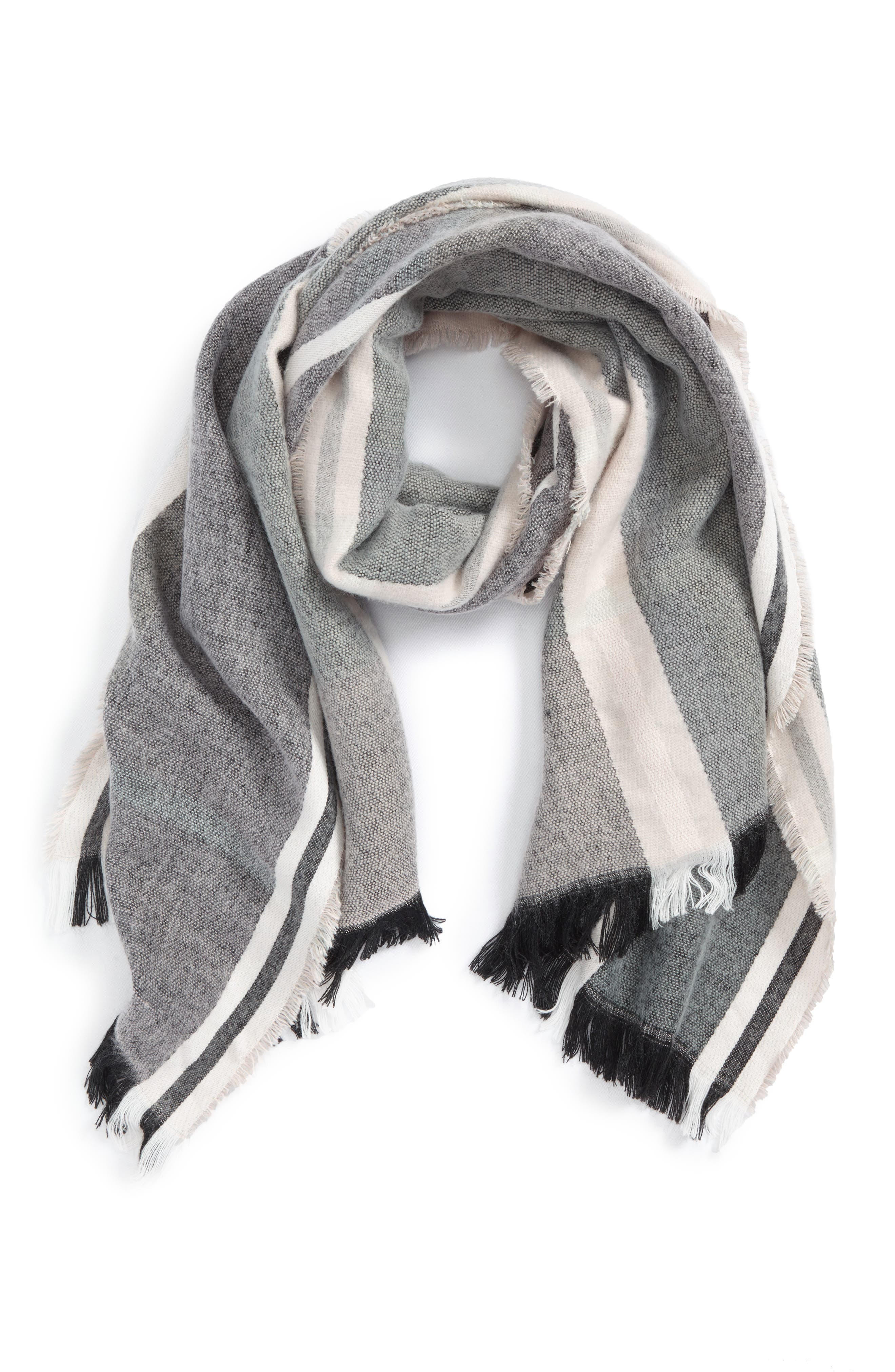 BP. Muted Stripe Oblong Scarf