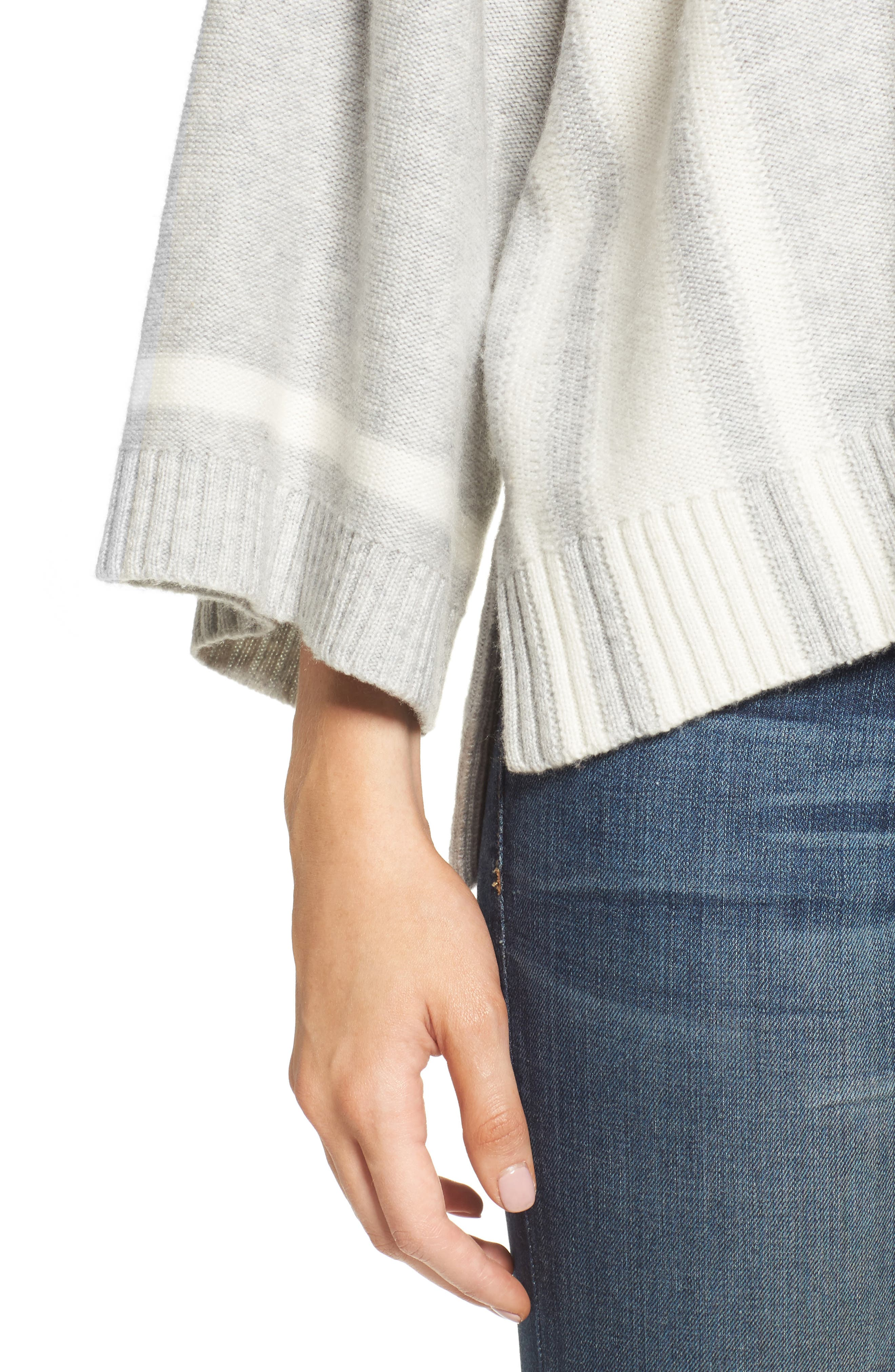 Bell Sleeve Sweater,                             Alternate thumbnail 5, color,                             Grey