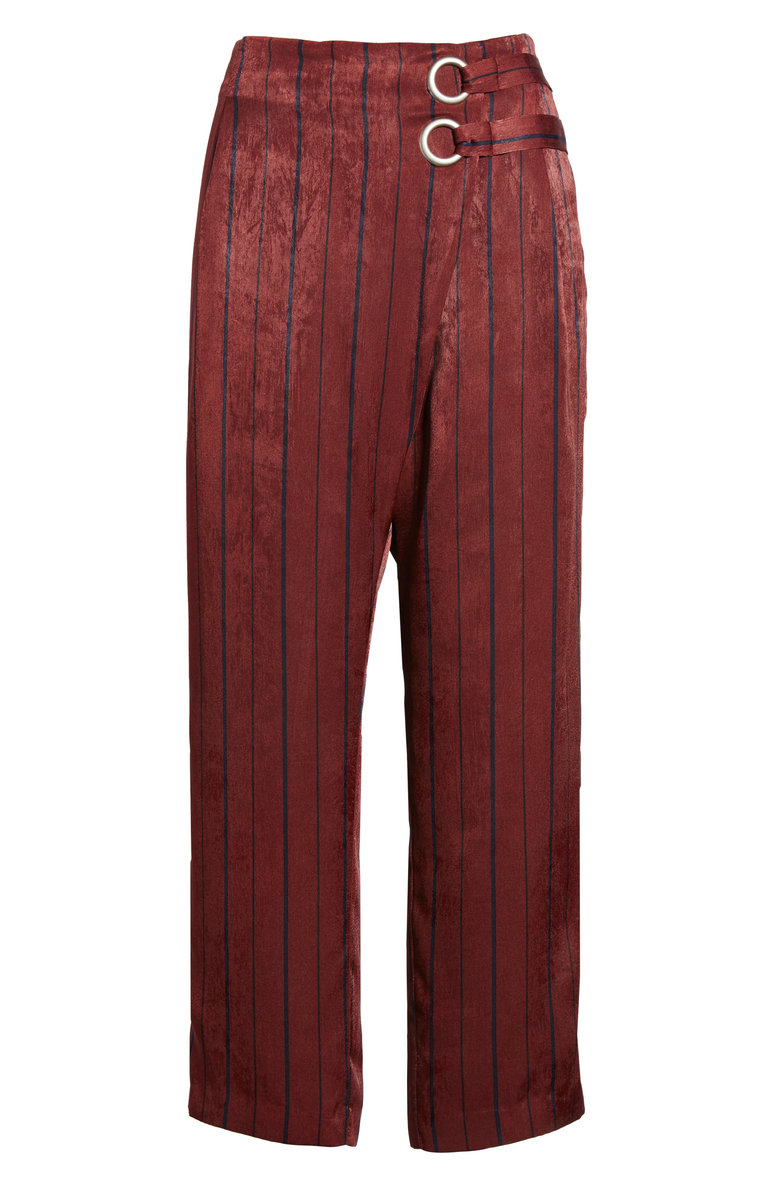 Stripe Crop Pants,                             Alternate thumbnail 7, color,                             Wine Multi