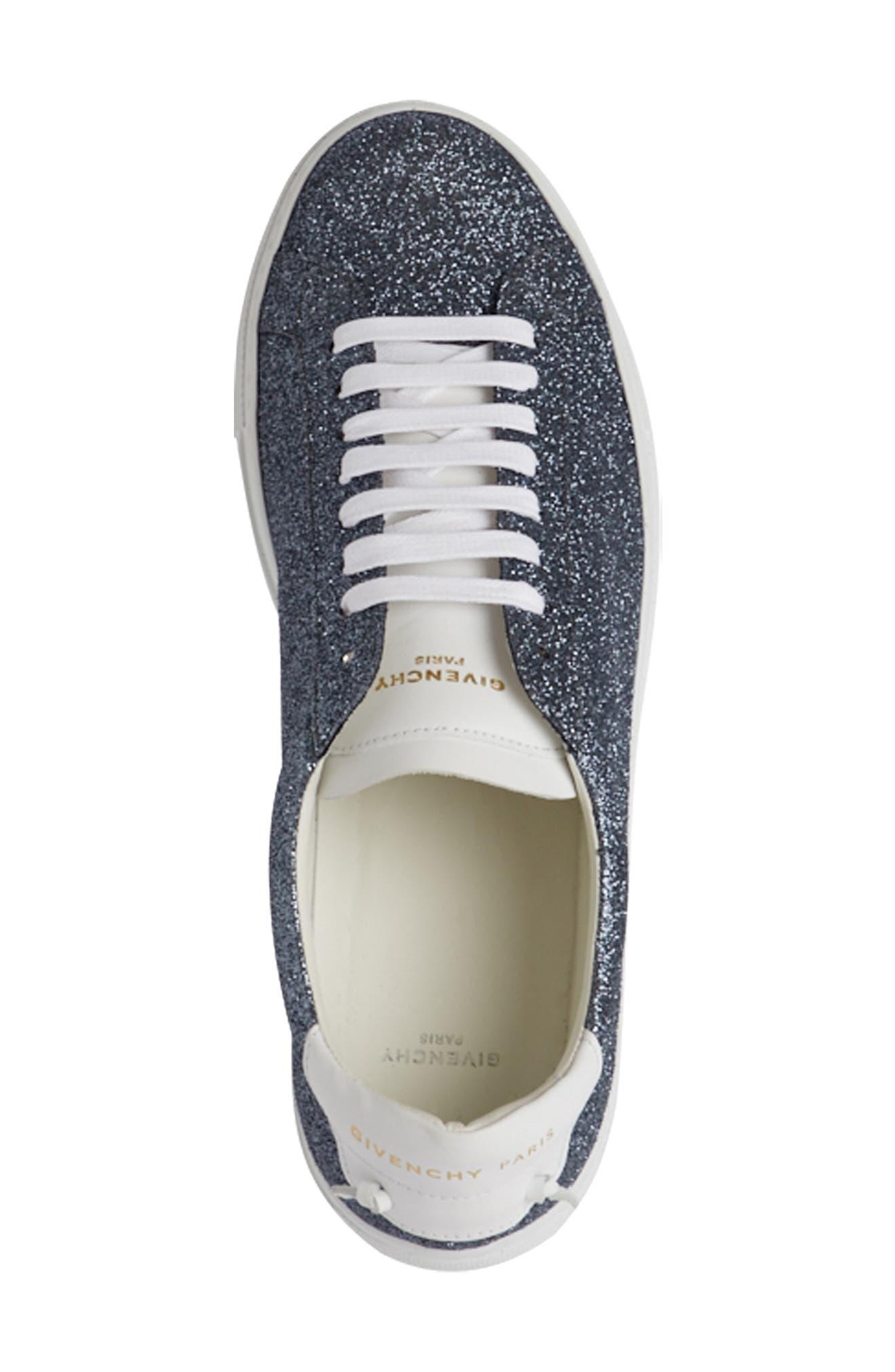Urban Knots Glitter Sneaker,                             Alternate thumbnail 4, color,                             Grey