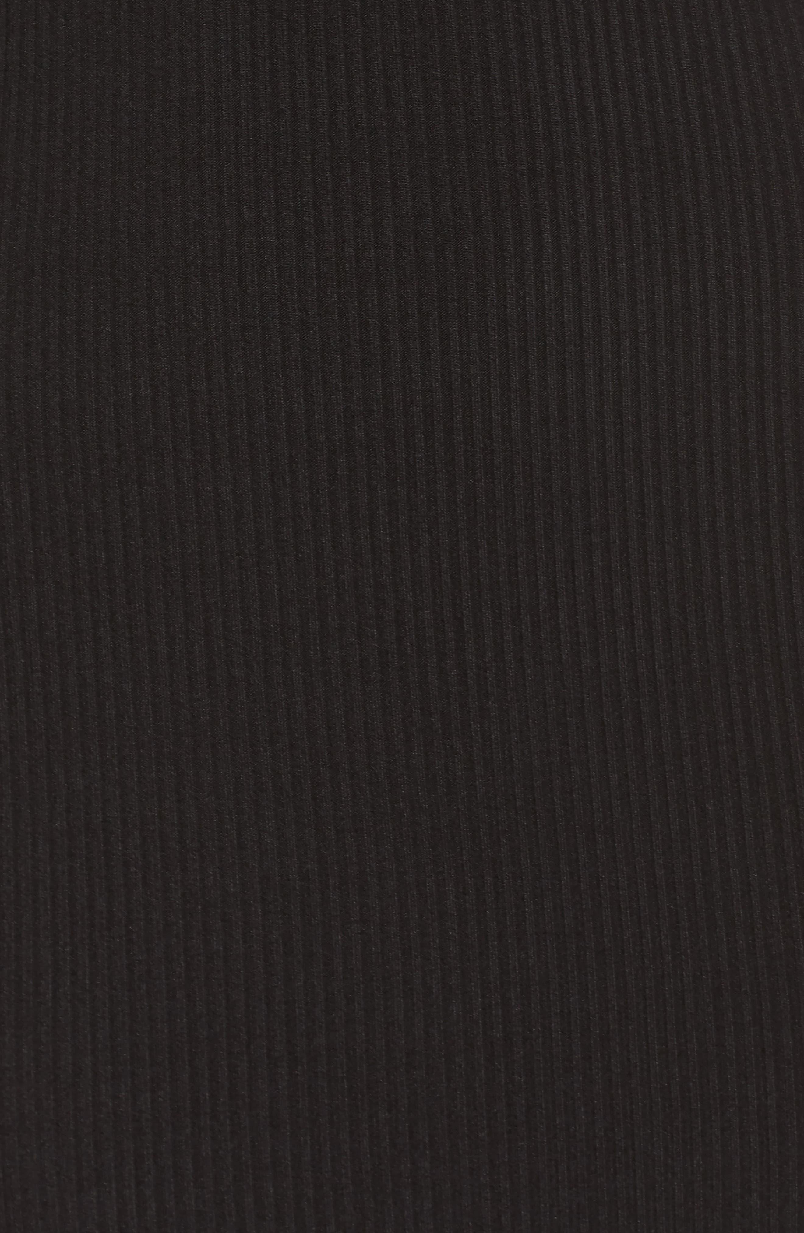 One-Shoulder Body-Con Dress,                             Alternate thumbnail 5, color,                             Black