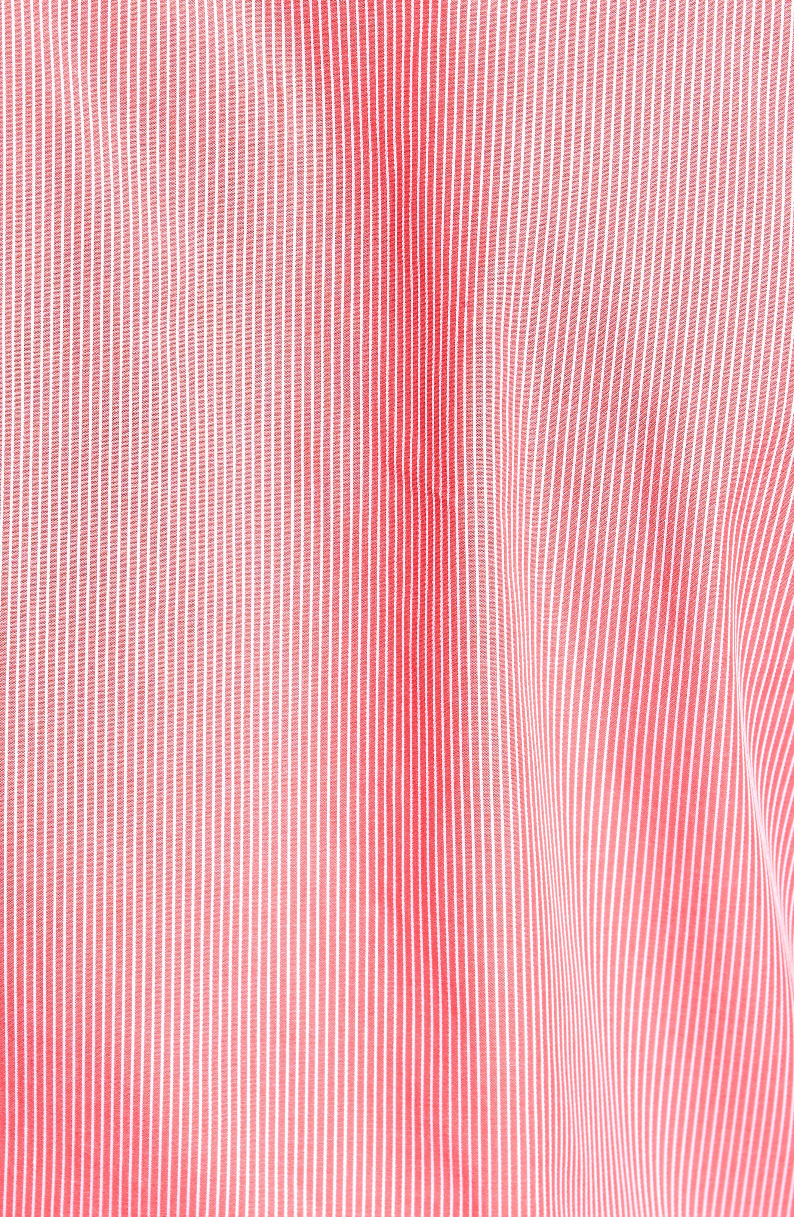 Oaksdale Stripe Sport Shirt,                             Alternate thumbnail 5, color,                             Coral