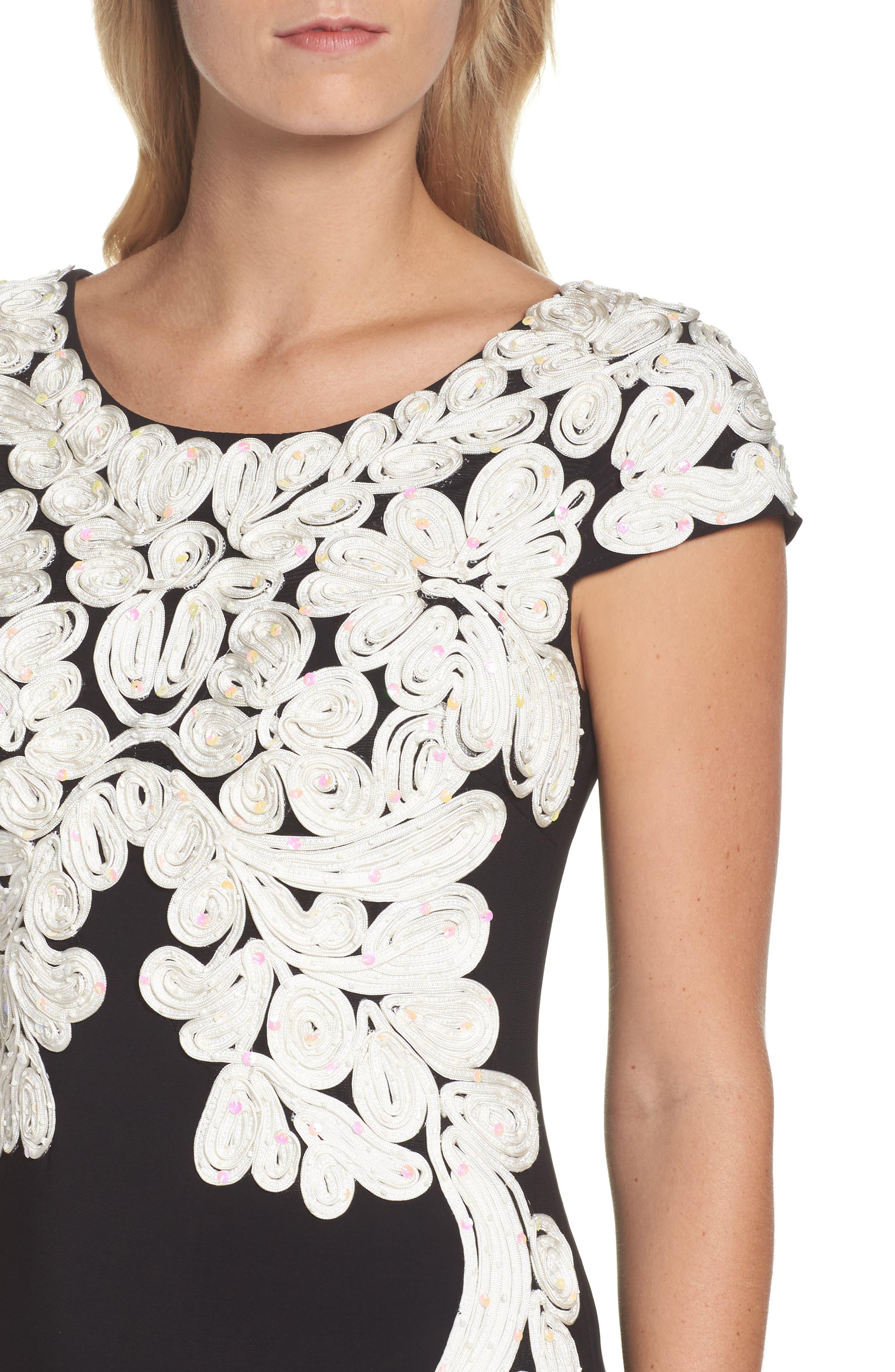 Alternate Image 4  - Alex Evenings Soutache Bodice Gown