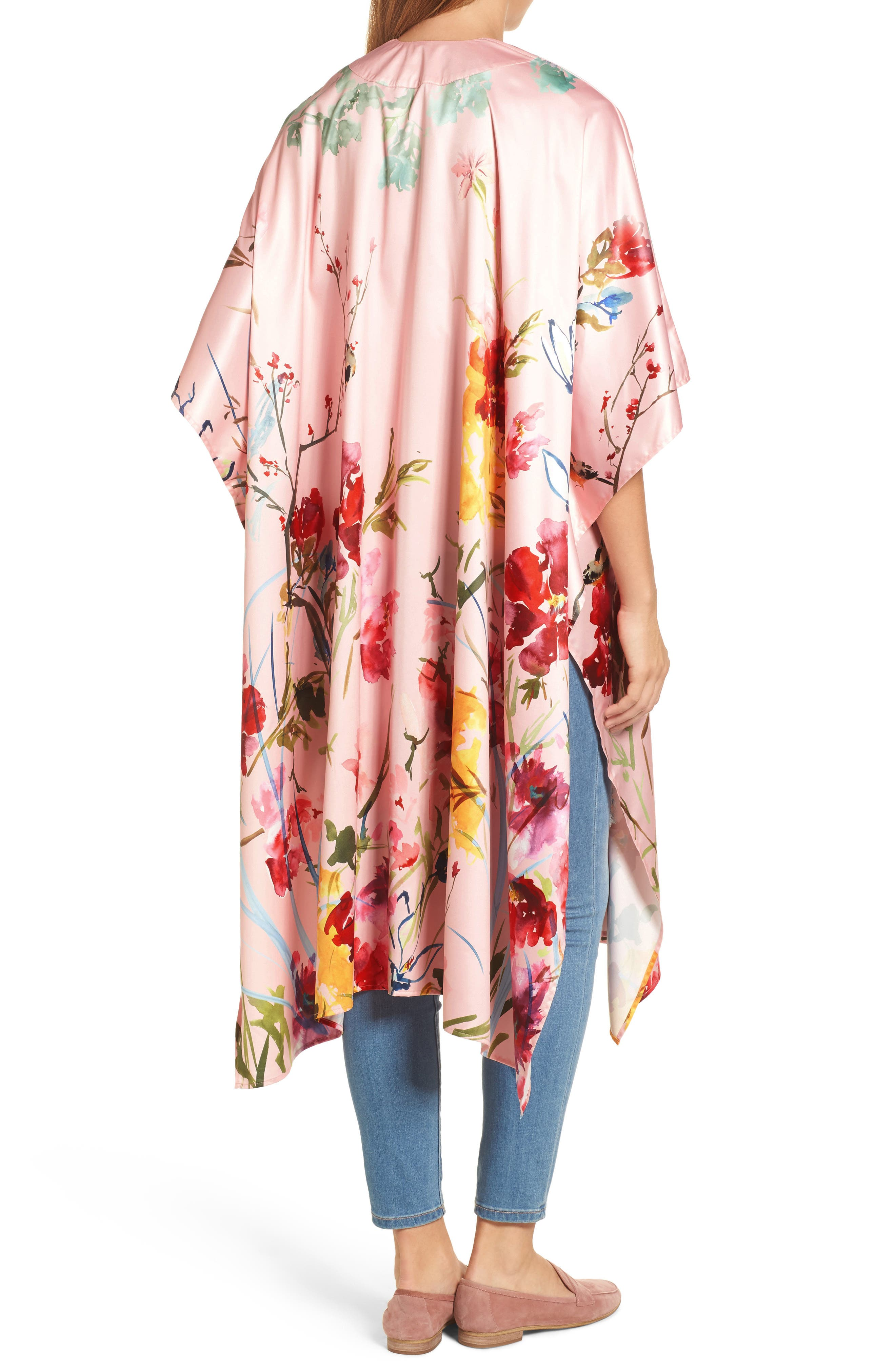 Floral Kimono,                             Alternate thumbnail 2, color,                             Pink Fantasy Garden Print